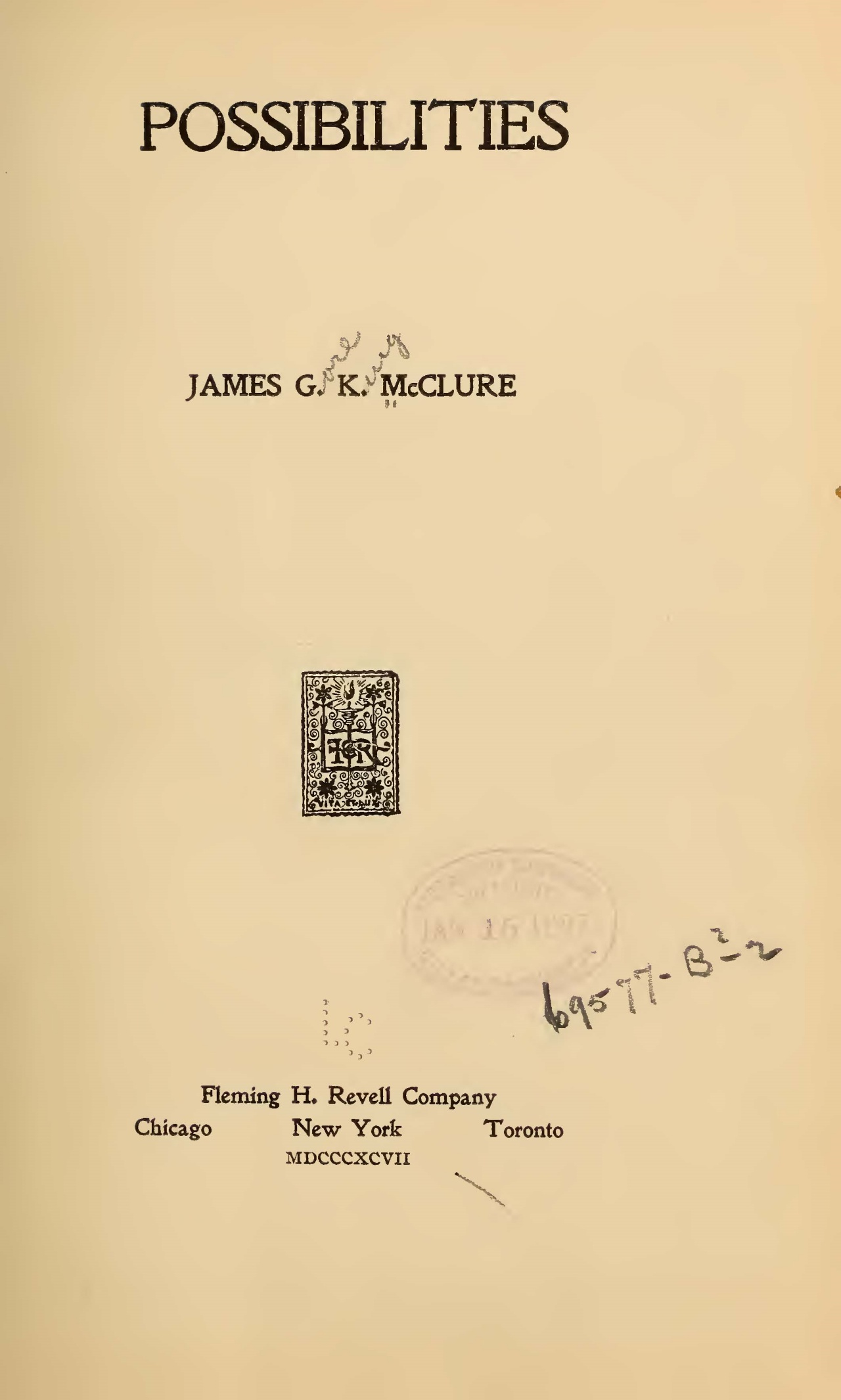 McClure, Sr., James Gore King, Possibilities Title Page.jpg