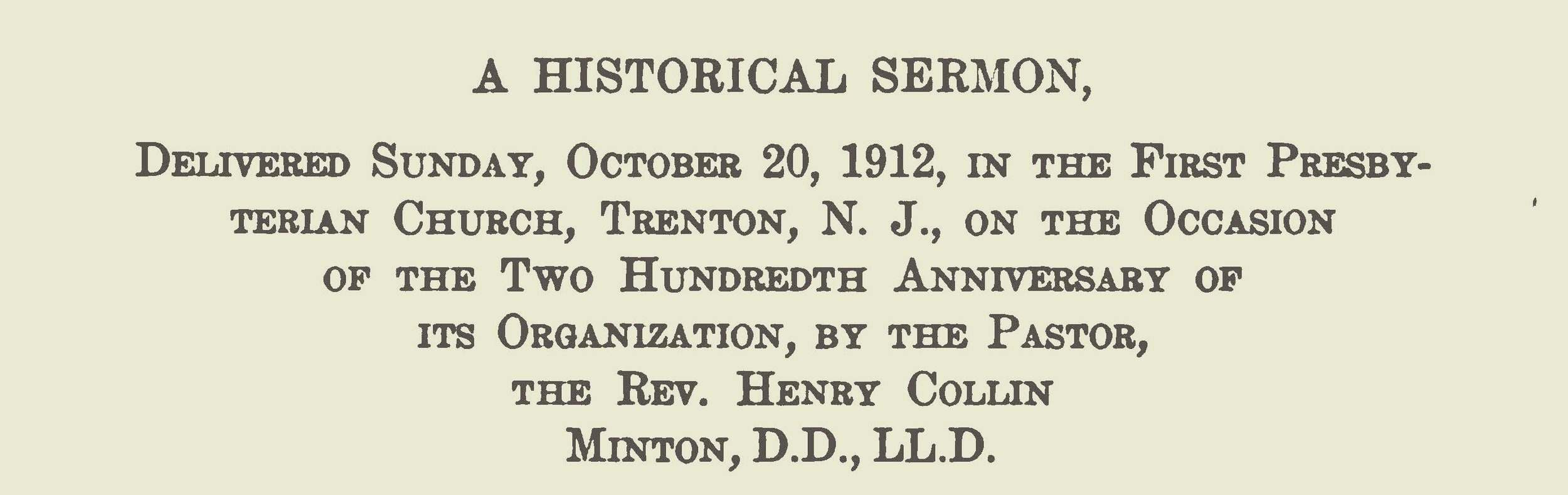 Minton, Henry Collin, A Historical Sermon Title Page.jpg