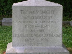 Thomas Dwight Witherspoon, Sr. is buried at Cave Hill Cemetery, Louisville, Kentucky.