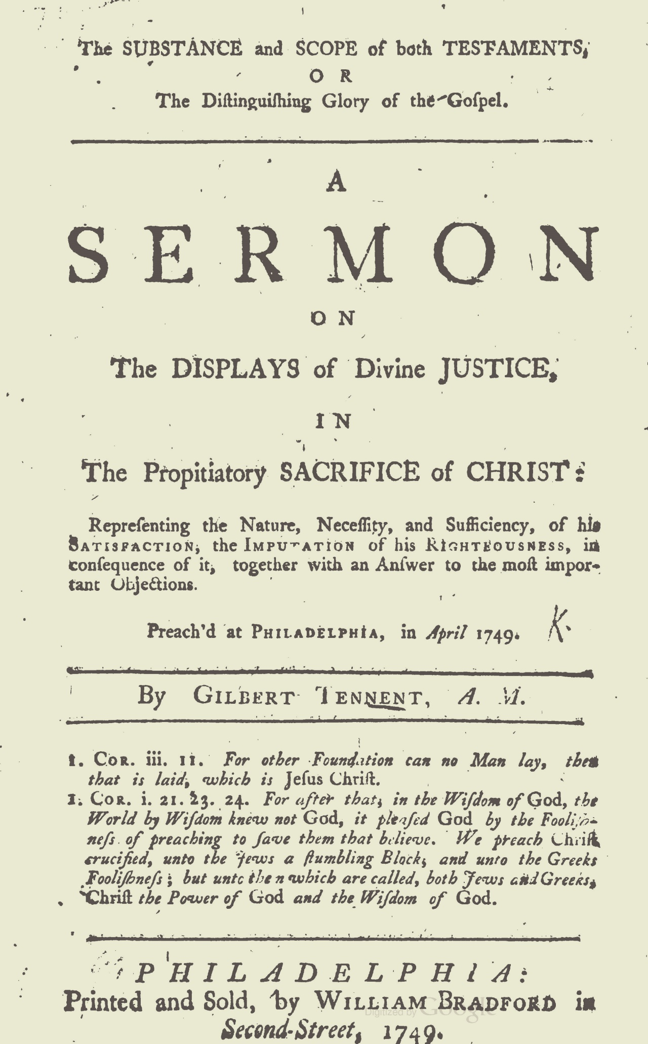 Tennent, Gilbert, The Substance and Scope of Both Testaments Title Page.jpg