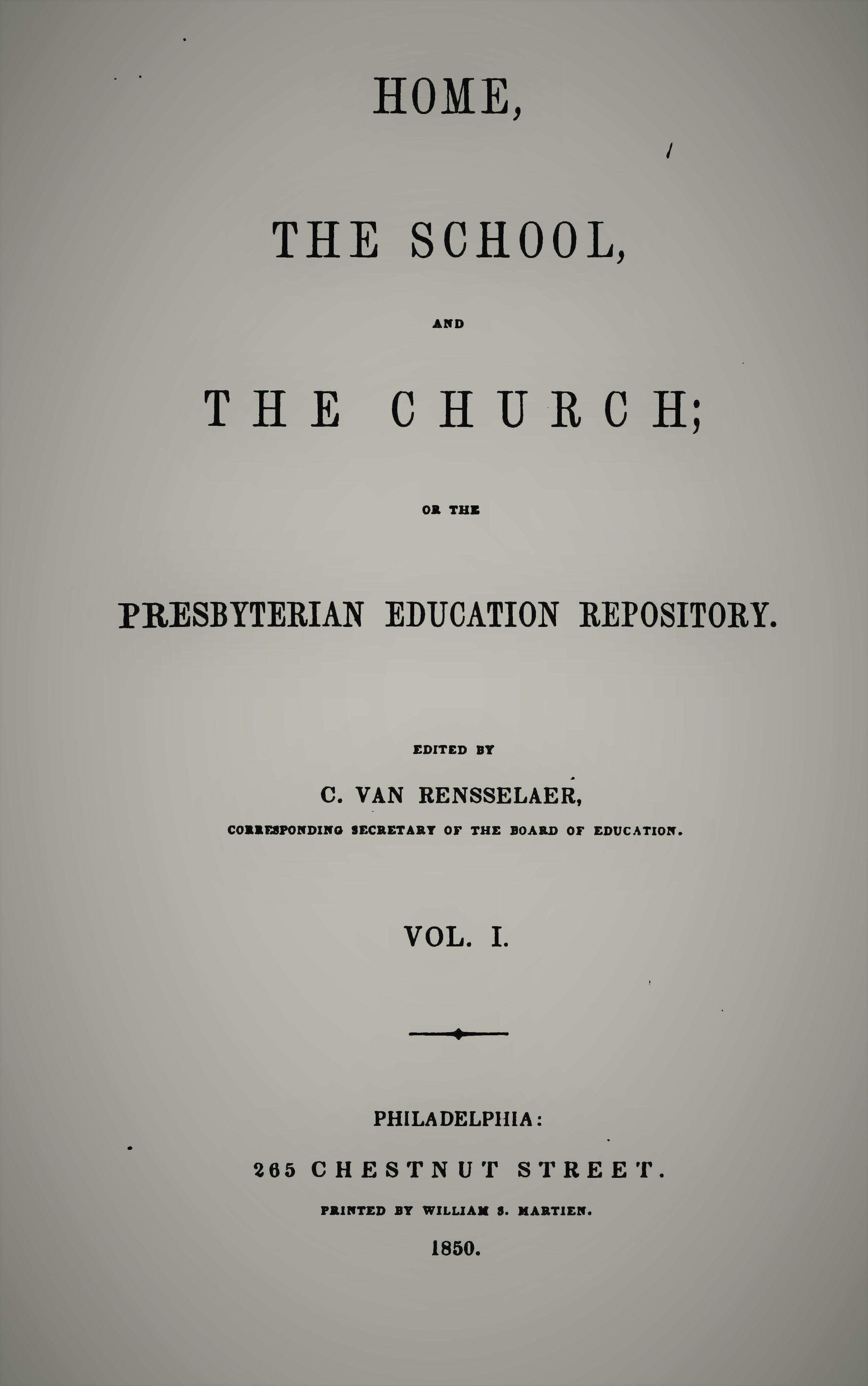 Van Rensselaer, Home School Church Vol 1.jpg
