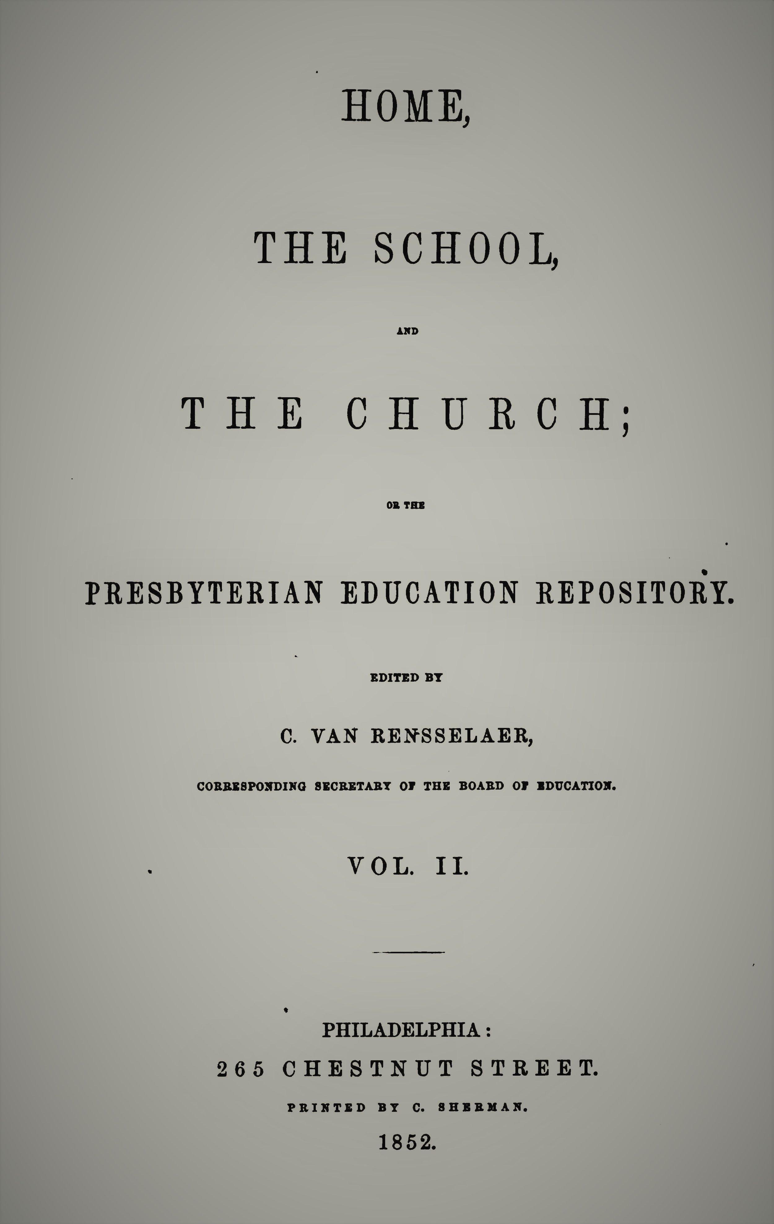 Van Rensselaer, Home School Church Vol 2.jpg