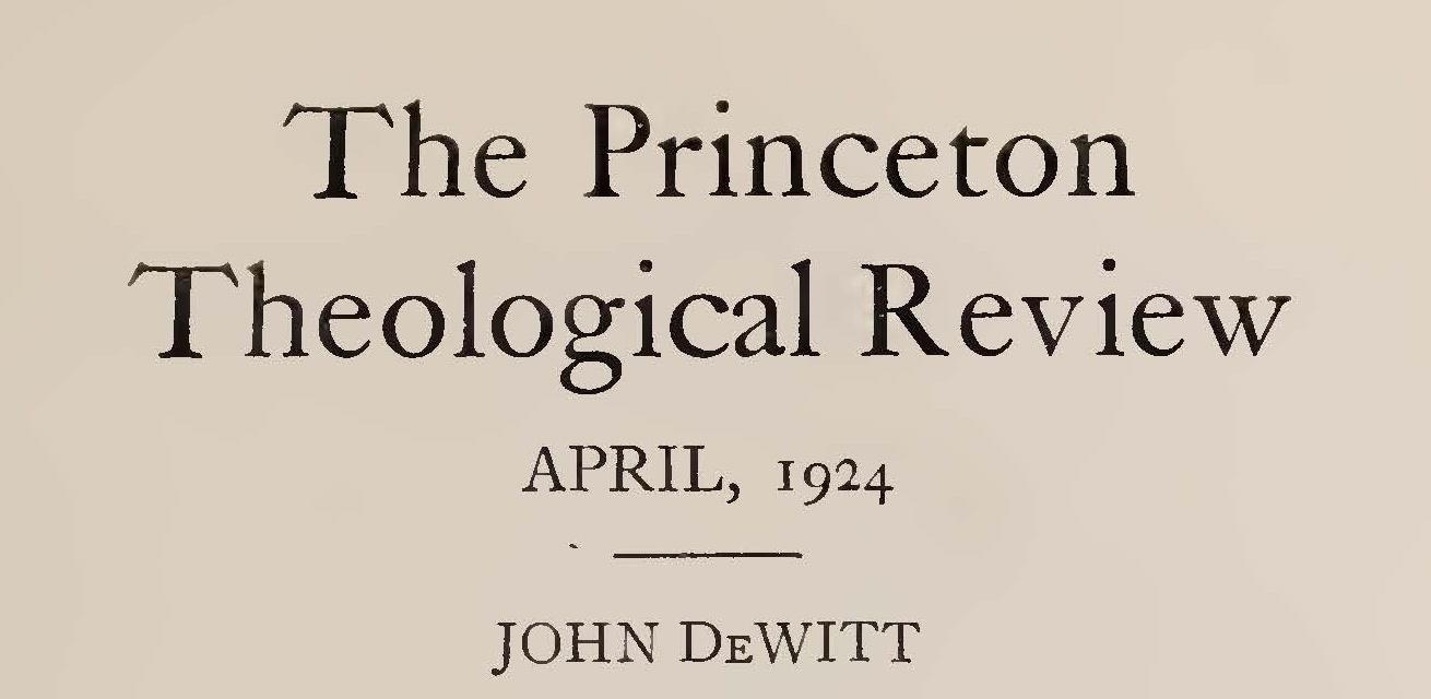Loetscher, Frederick William, John DeWitt 1924 Title Page.jpg