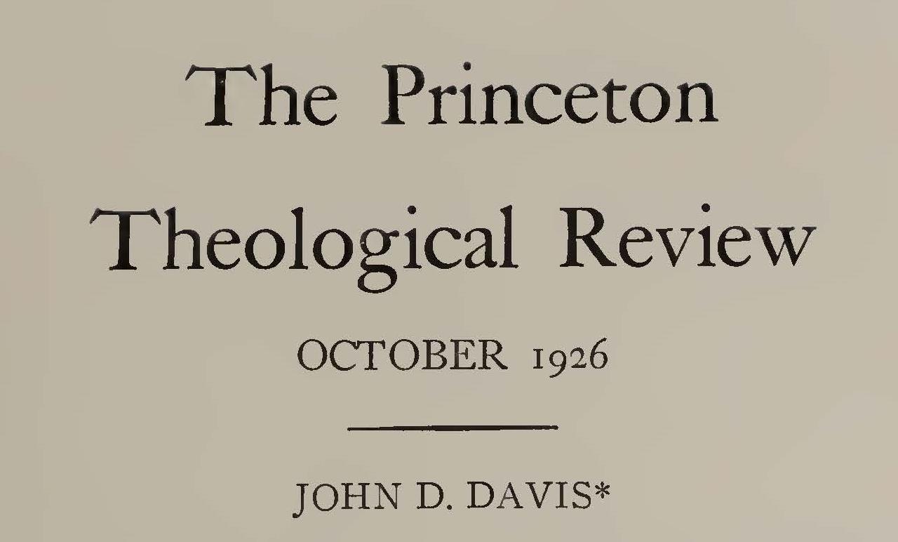 Loetscher, Frederick William, John D. Davis Title Page.jpg