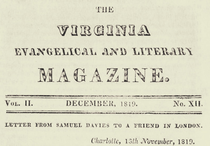 Davies, Samuel, Letter to a Friend in London Title Page.jpg