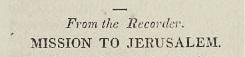 Green, Ashbel, Mission to Jerusalem Title Page.jpg