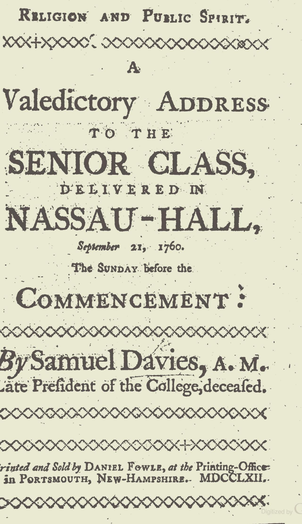 Davies, Samuel, Religion and Public Spirit Title Page.jpg