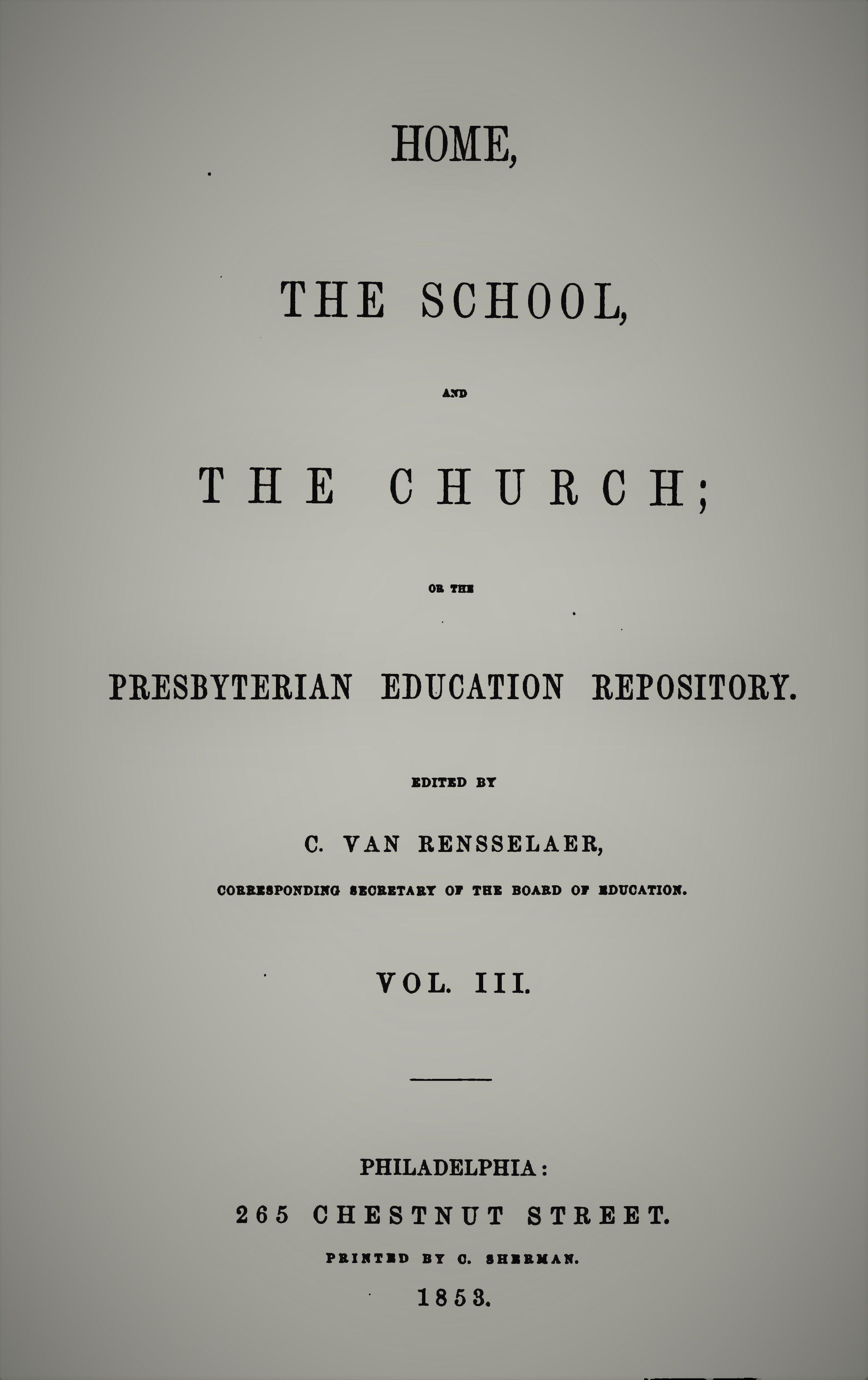 Van Rensselaer, Home School Church Vol 3.jpg