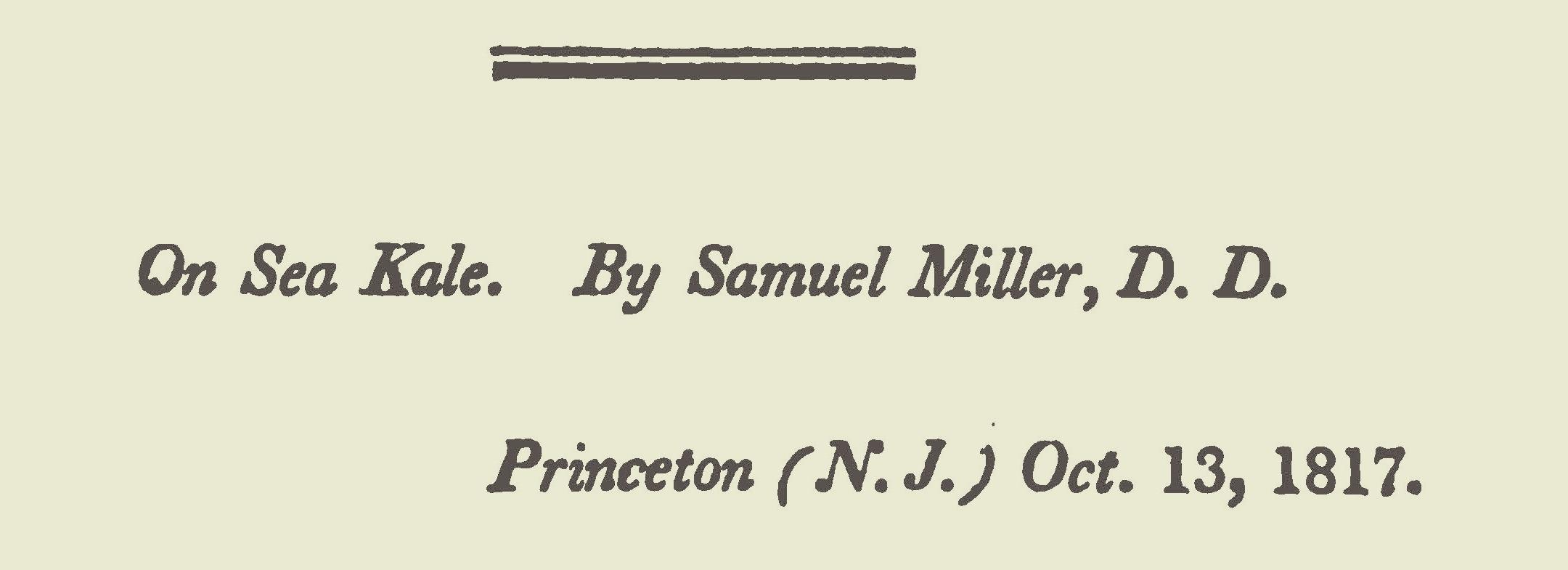 Miller, Samuel, A Letter on Sea Kale Title Page.jpg