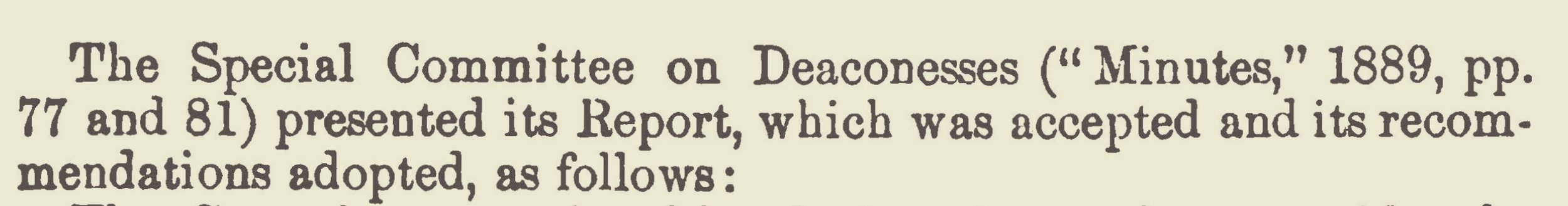 Warfield, Benjamin Breckinridge, Committee Report on Deaconesses Title Page.jpg