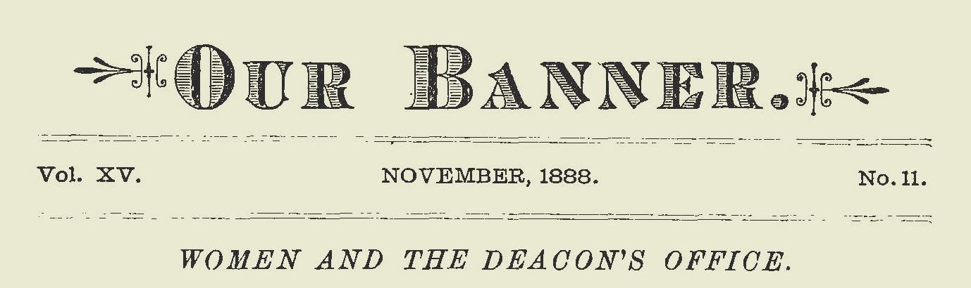 Stevenson, Thomas Patton, Women and the Deacon's Office Title Page.jpg