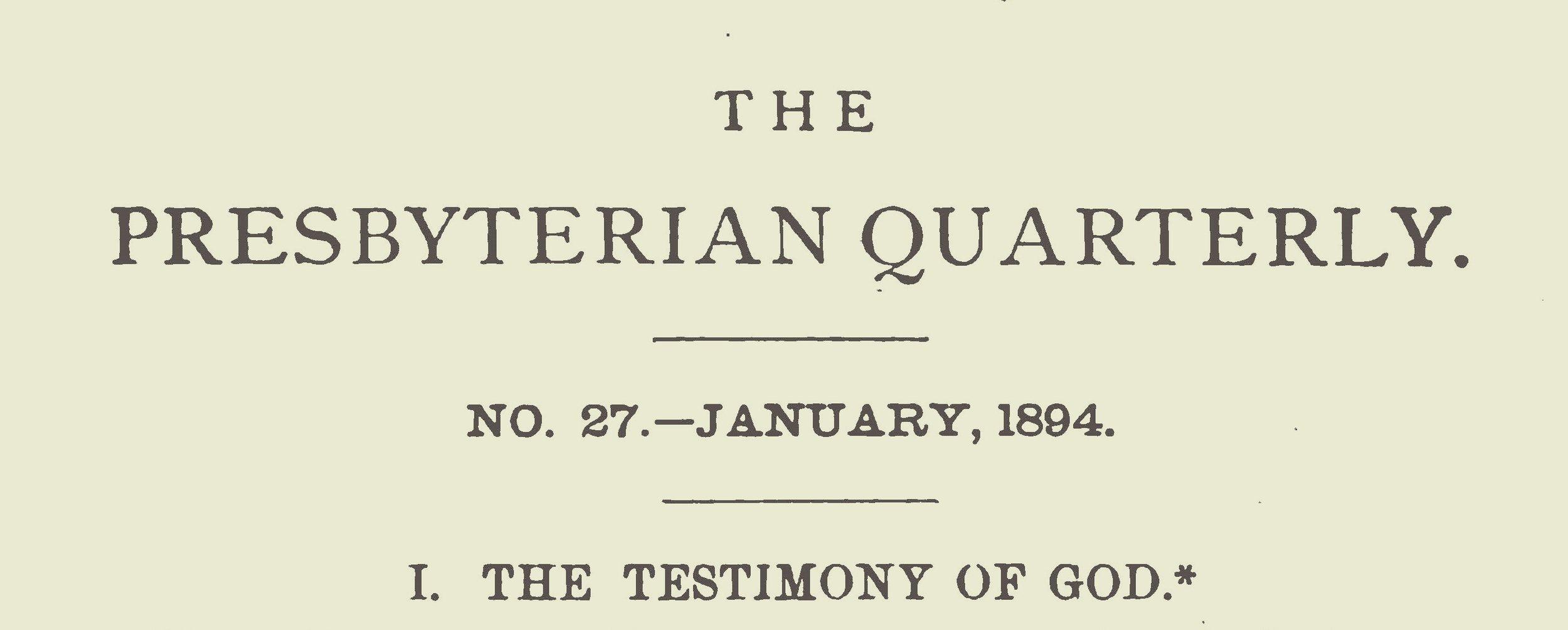 Webb, Robert Alexander, The Testimony of God Title Page.jpg