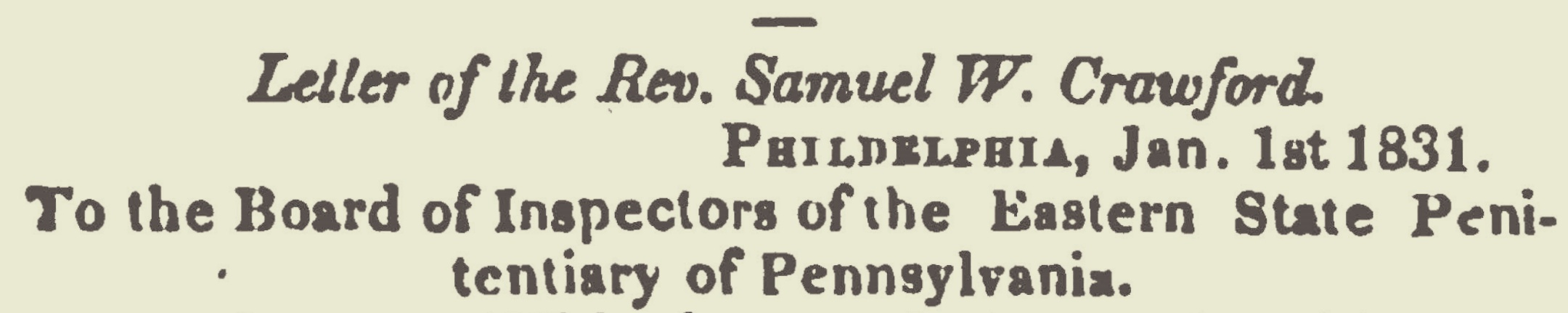 Crawford, Samuel Wylie, 1831 Letter Title Page.jpg