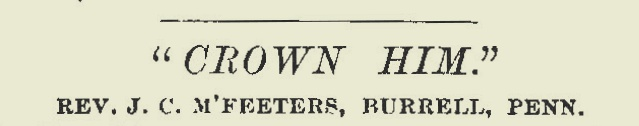 McFeeters, James Calvin, Crown Him Title Page.jpg