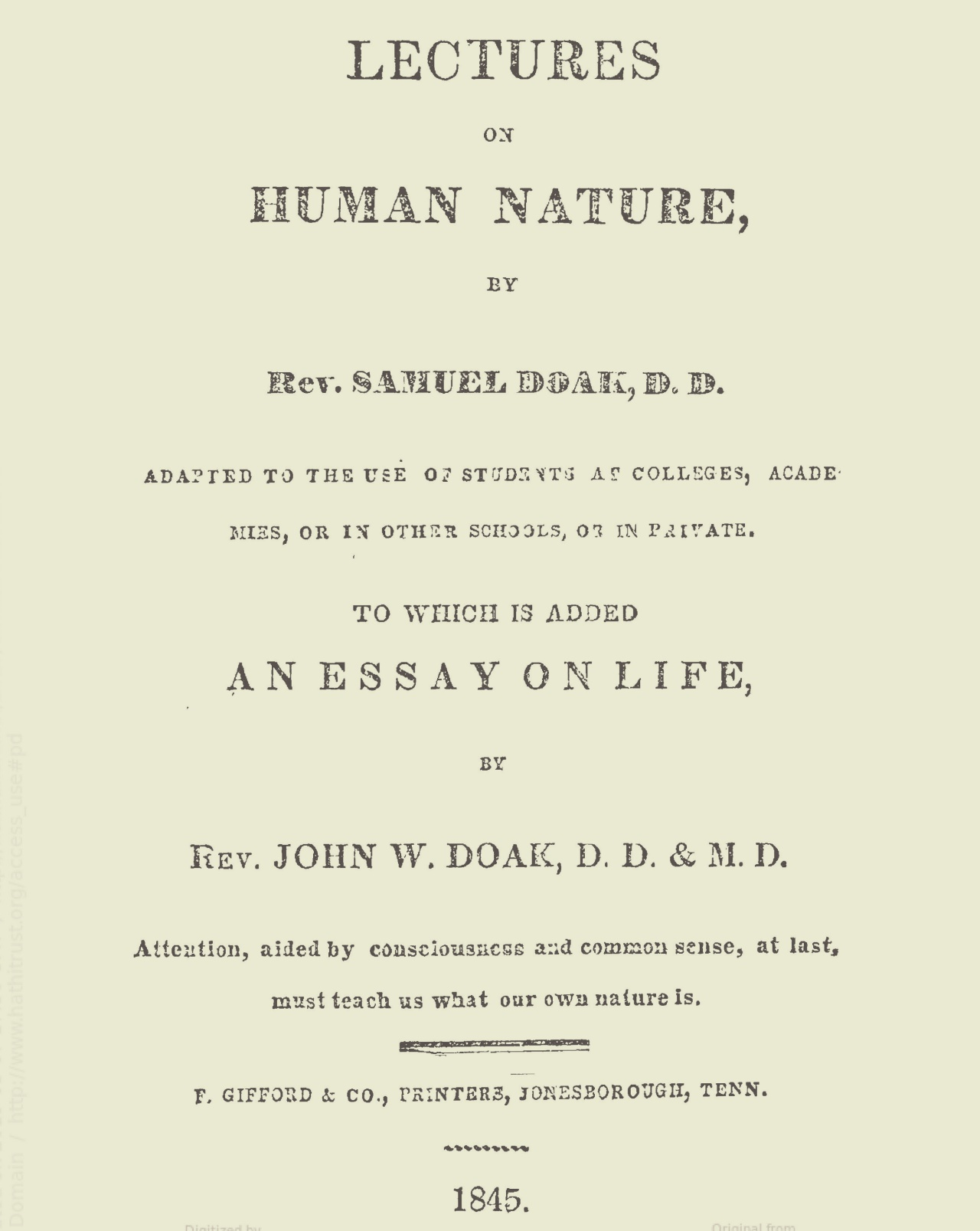 Doak, Samuel, Lectures on Human Nature Title Page.jpg