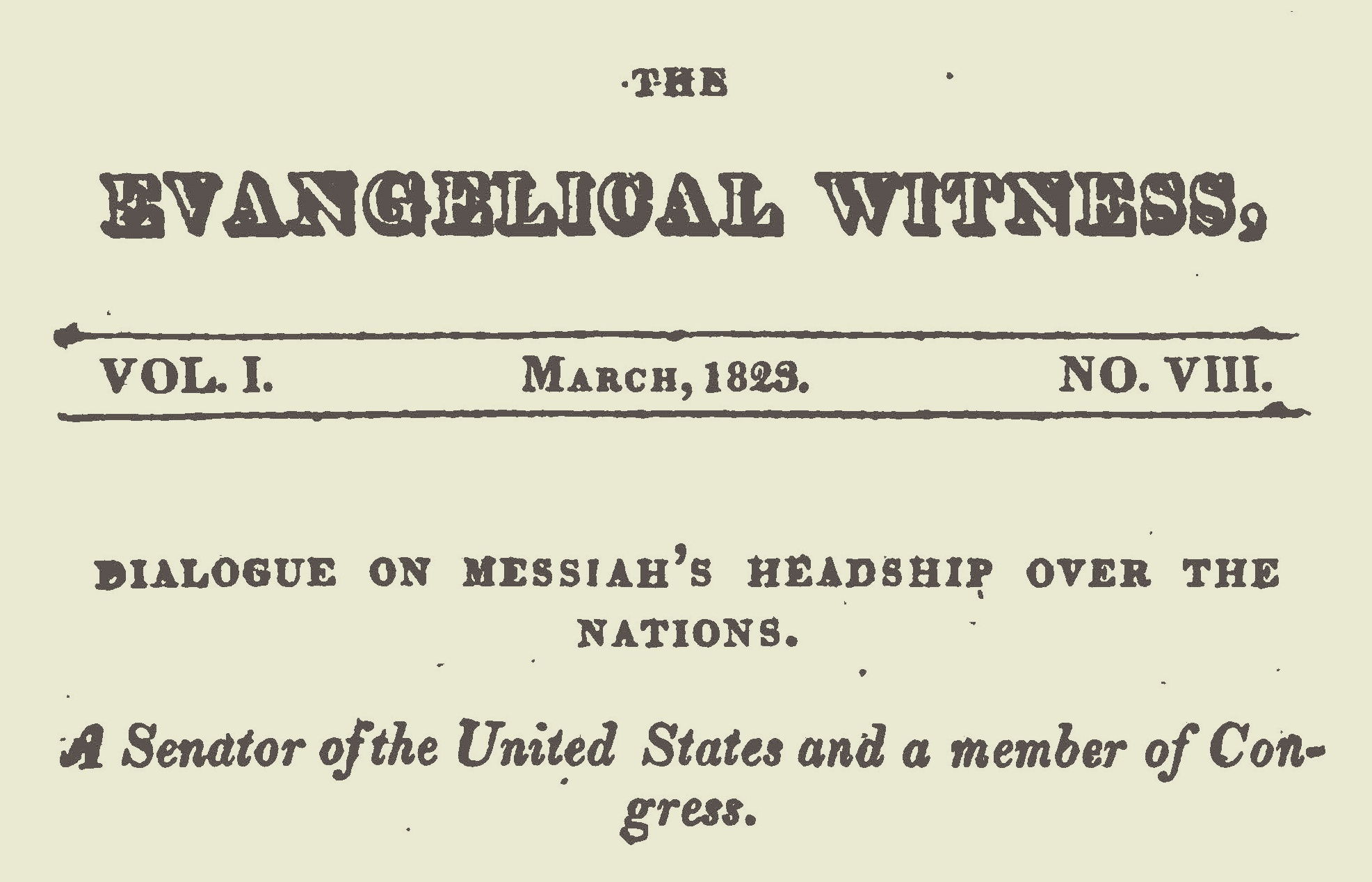 Willson, James Renwick, Dialogue on Messiah's Headship Title Page.jpg