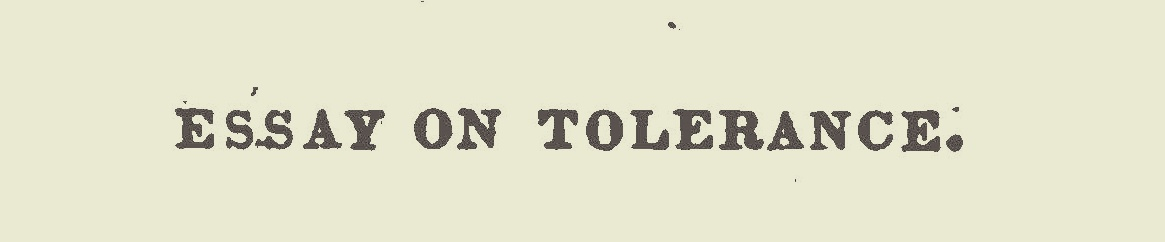 Willson, James Renwick, Essay on Tolerance Title Page.jpg