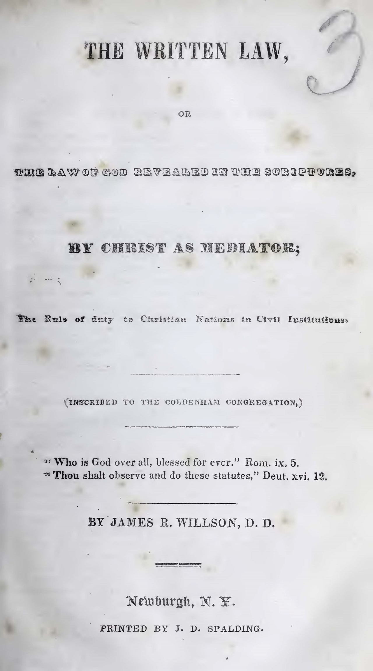 Willson, James Renwick, The Written Law Title Page.jpg
