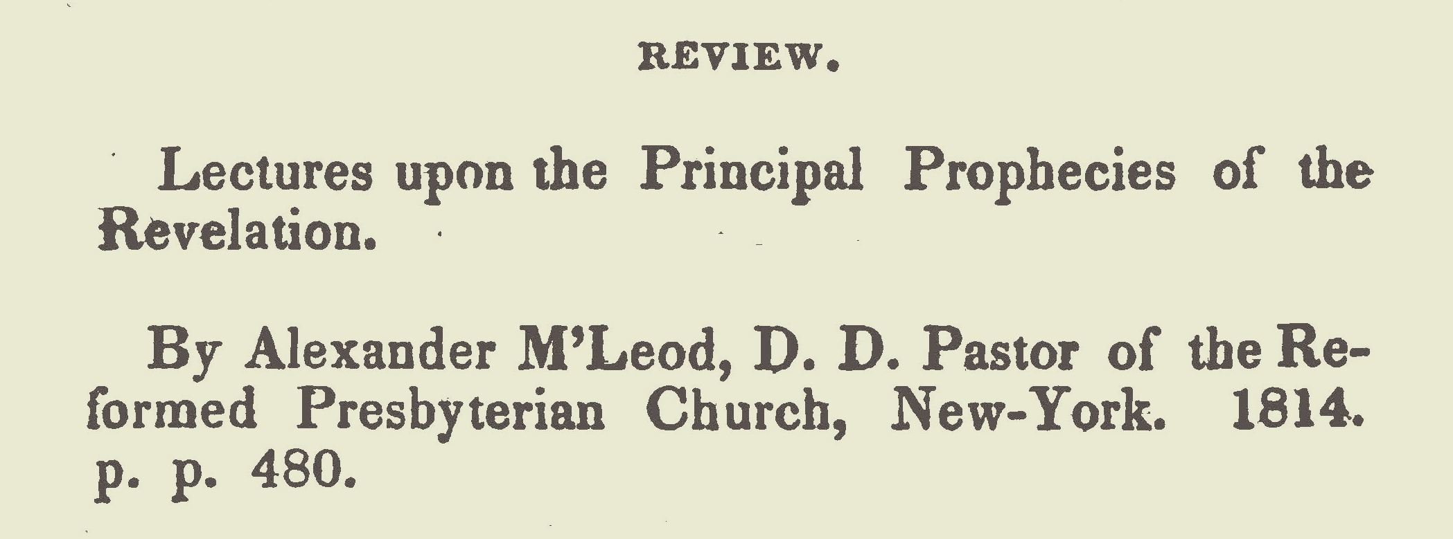 Willson, James Renwick, Review of McLeod's Lectures Title Page.jpg