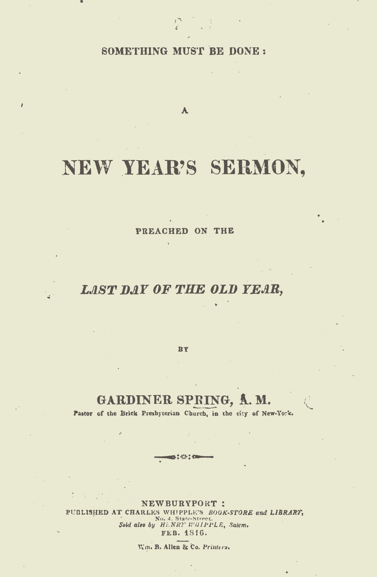 Spring, Gardiner, Something Must Be Done Title Page.jpg