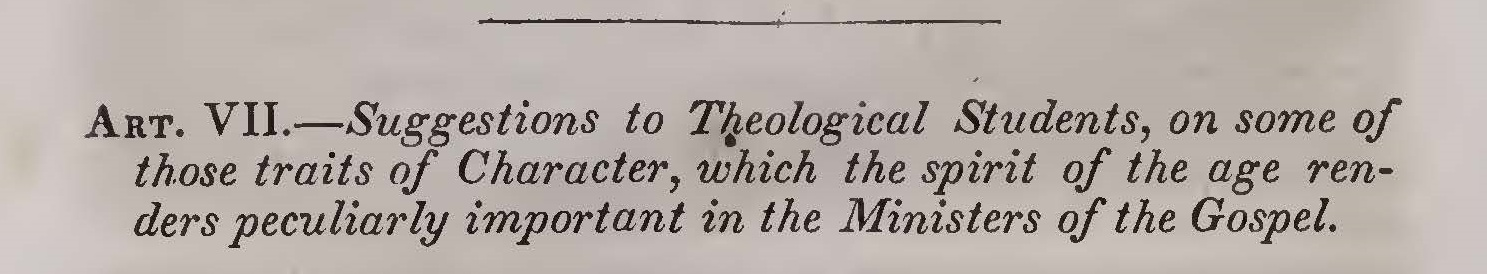 Hodge, Charles, Suggestions of Theological Students Title Page.jpg