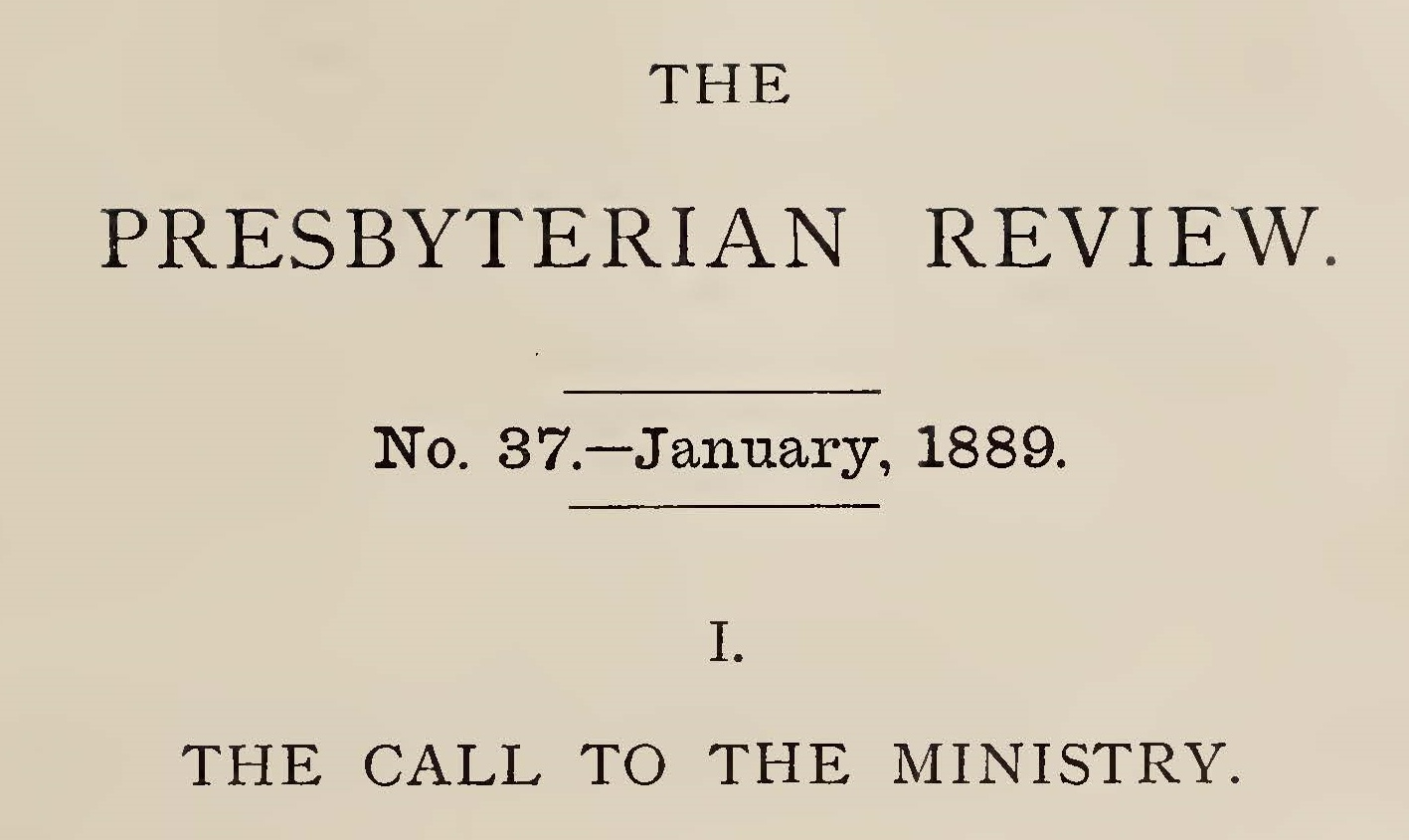 Paxton, William Miller, The Call to the Ministry Title Page.jpg