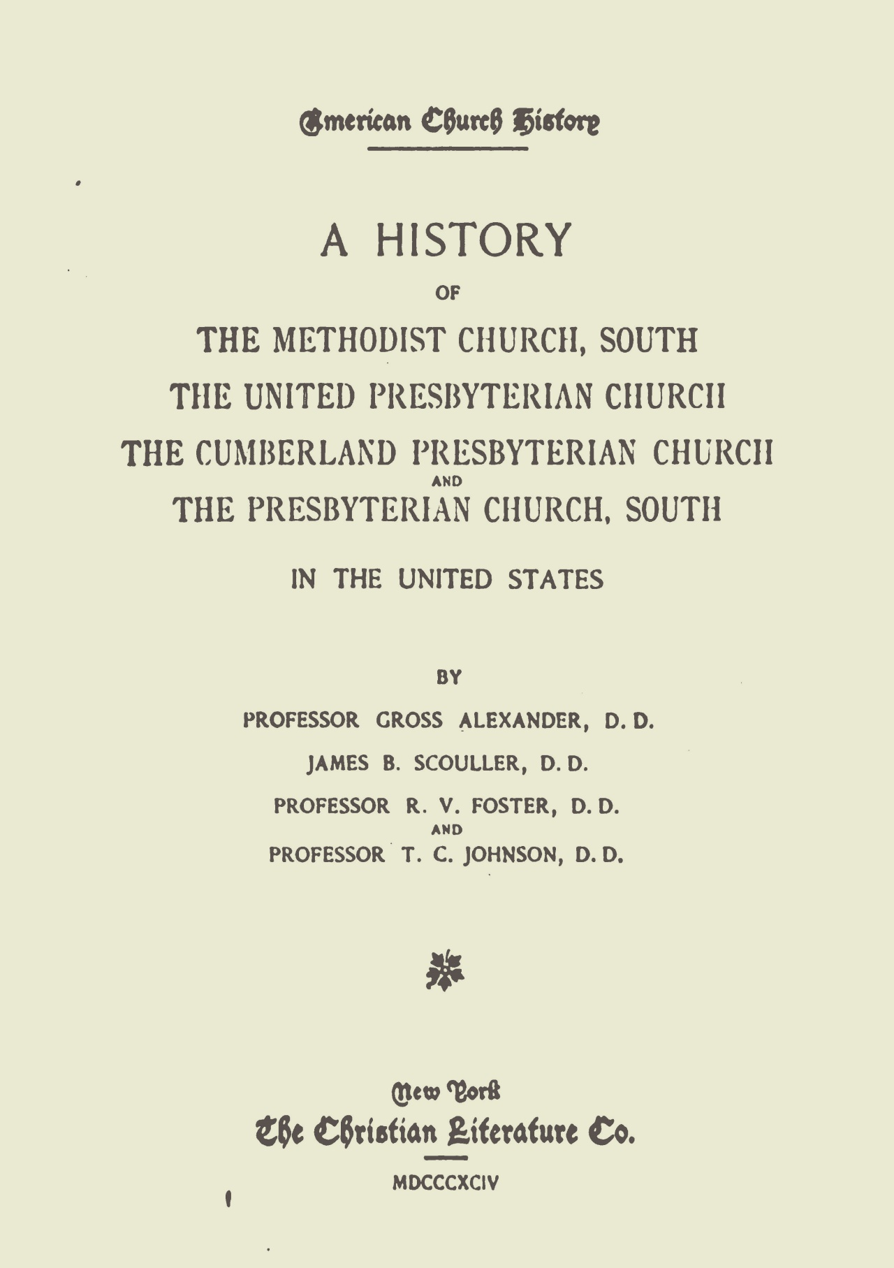 Scouller, James Brown, A History of the United Presbyterian Church Title Page.jpg