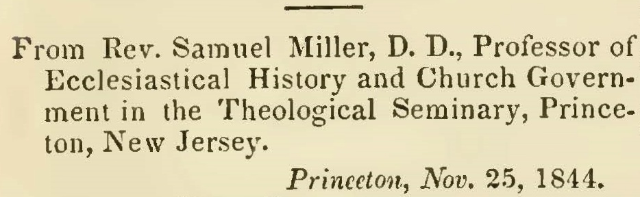 Miller, Samuel, Recommendatory Letter to Bower's History of the Popes Title Page.jpg