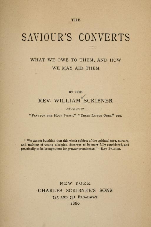 Scribner, The Savior's Converts.jpg