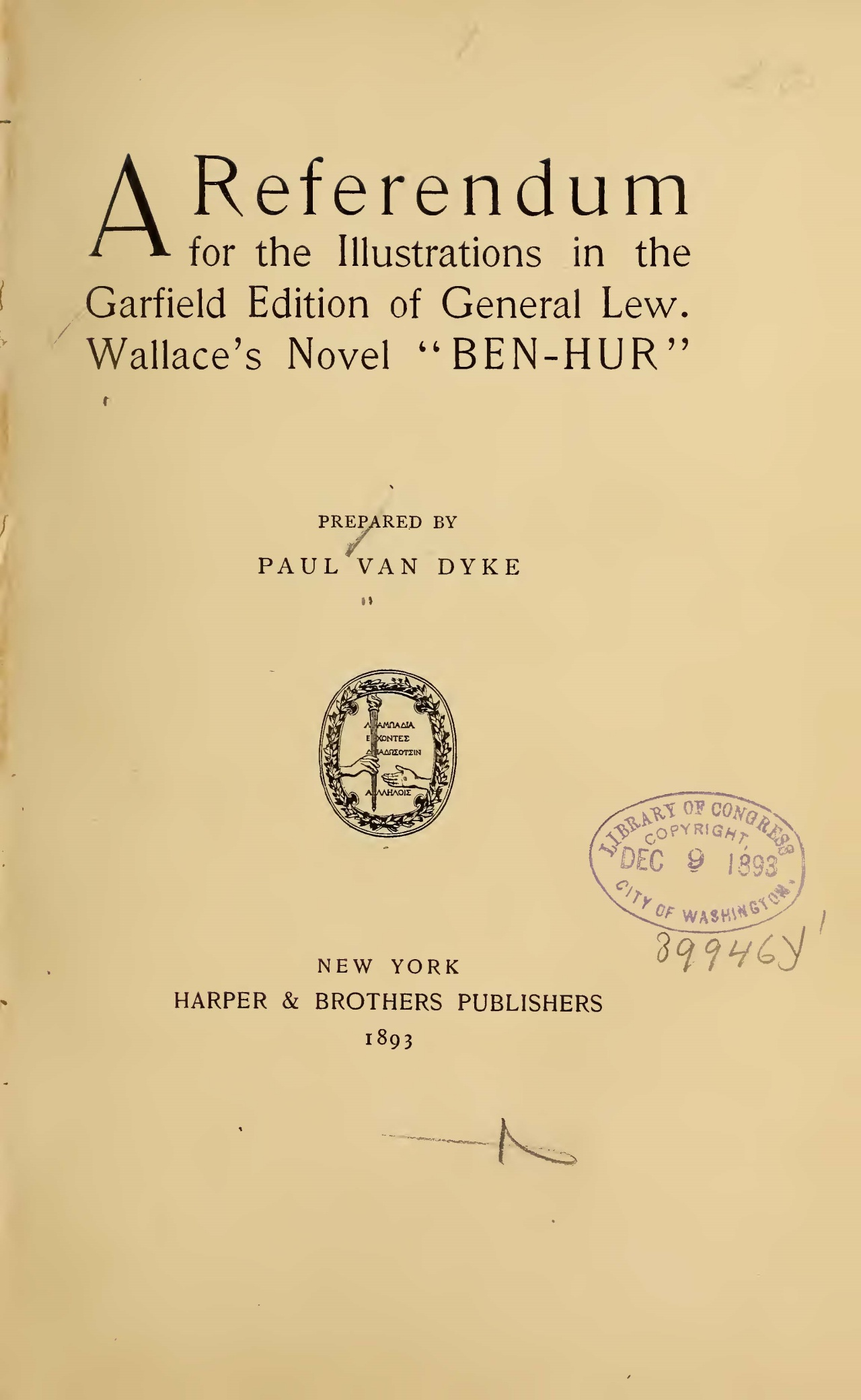 Van Dyke, Paul, A Referendum Title Page.jpg