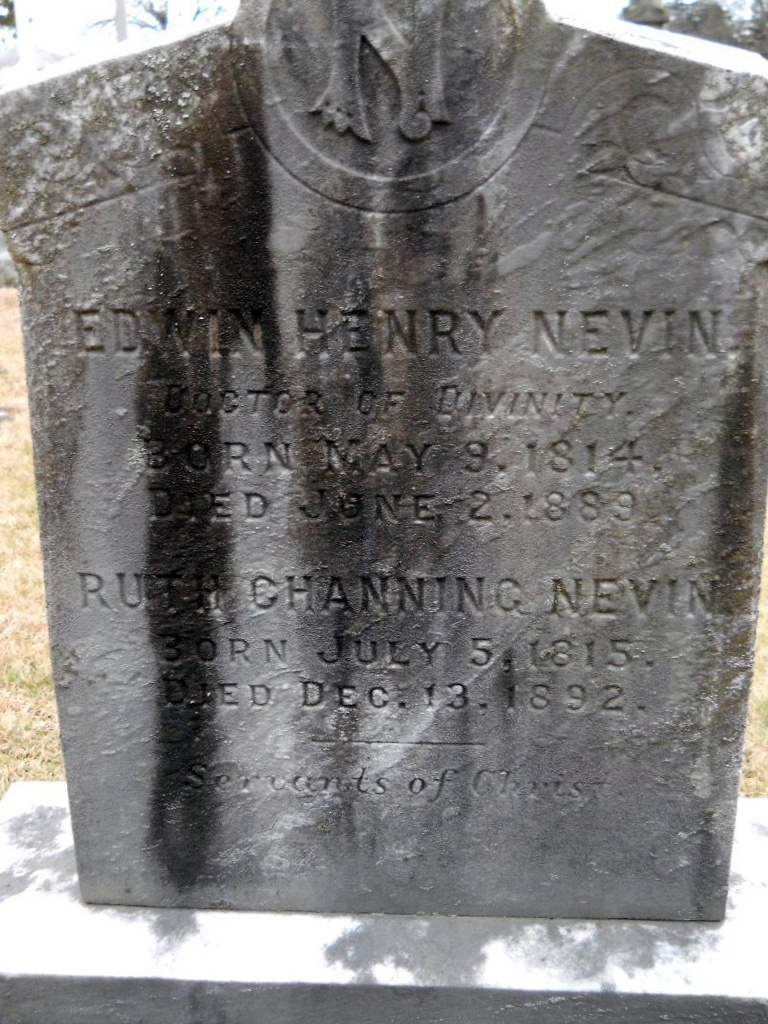 Edwin Henry Nevin is buried at Spring Hill Cemetery, Shippensburg, Pennsylvania.
