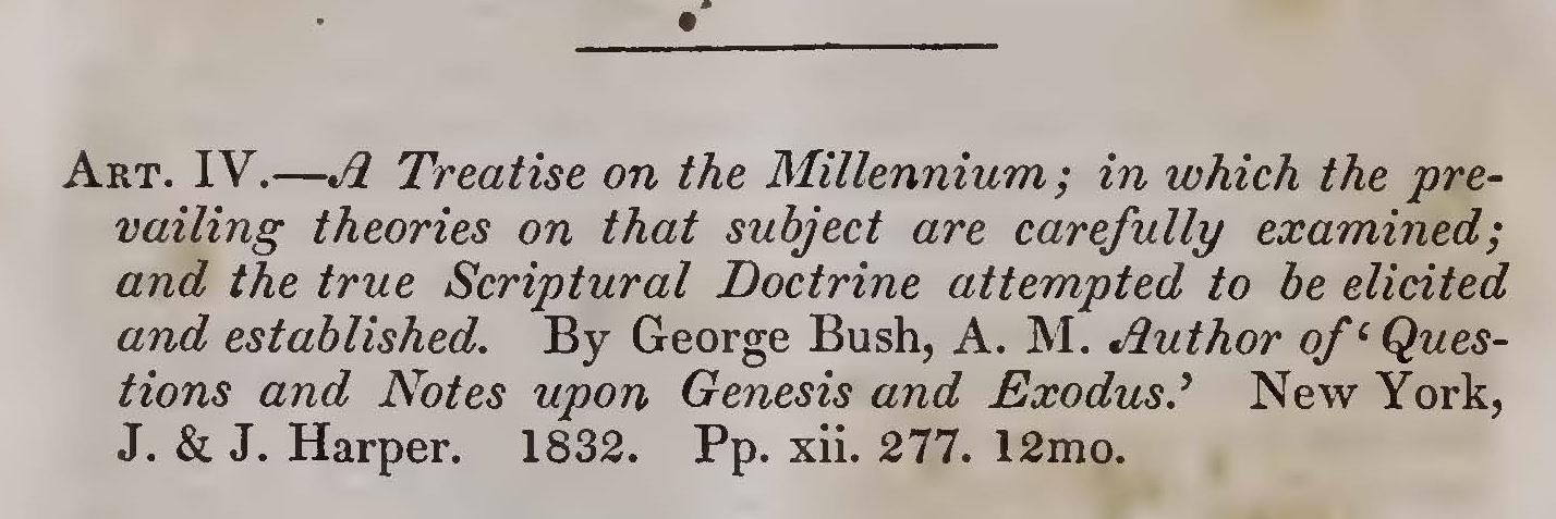 Alexander, Joseph Addison, A Treatise on the Millennium Title Page.jpg