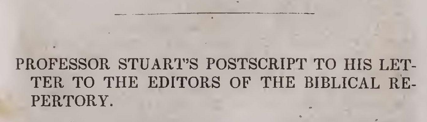 Hodge, Charles, Professor Stuart's Postscript Title Page.jpg