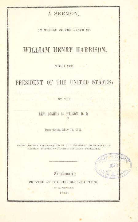 Wilson, Joshua Lacy - Sermon in Memory of W H Harrison.jpg