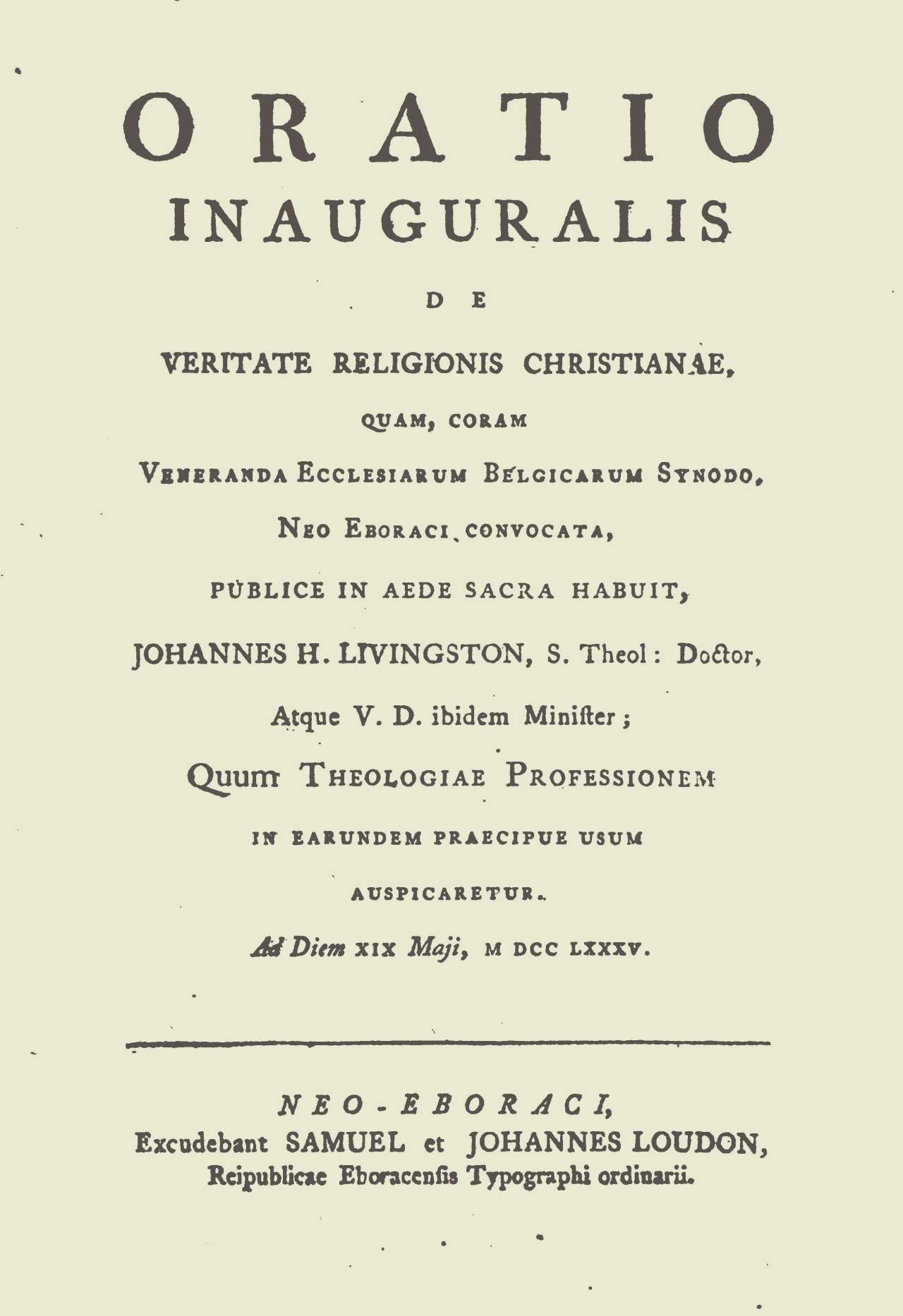Livingston, John Henry, Inaugural Oration Title Page.jpg