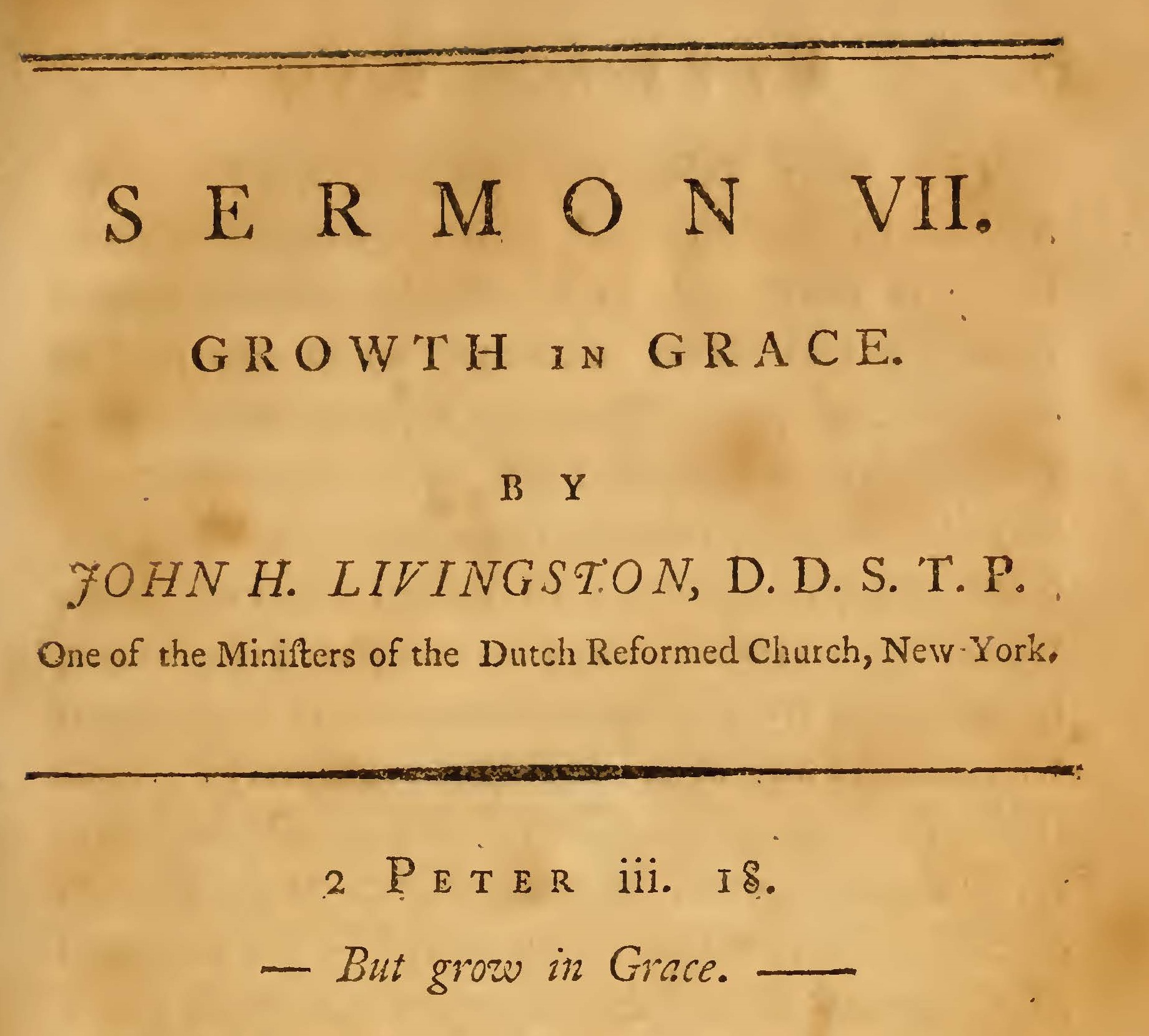 Livingston, John Henry, Growth in Grace Title Page.jpg