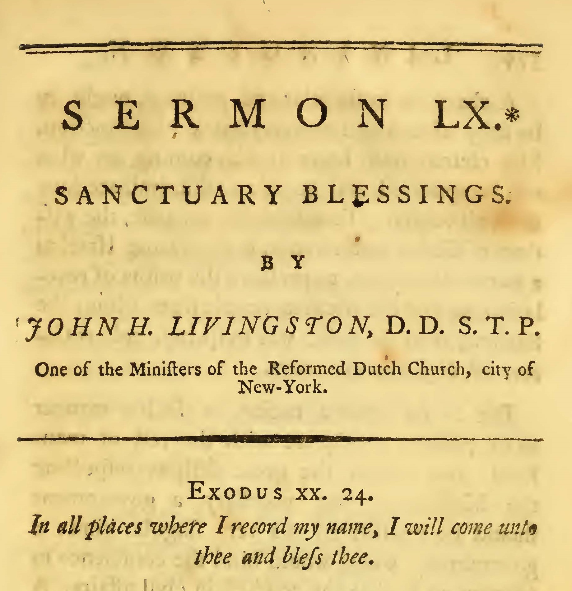 Livingston, John Henry, Sanctuary Blessings Title Page.jpg