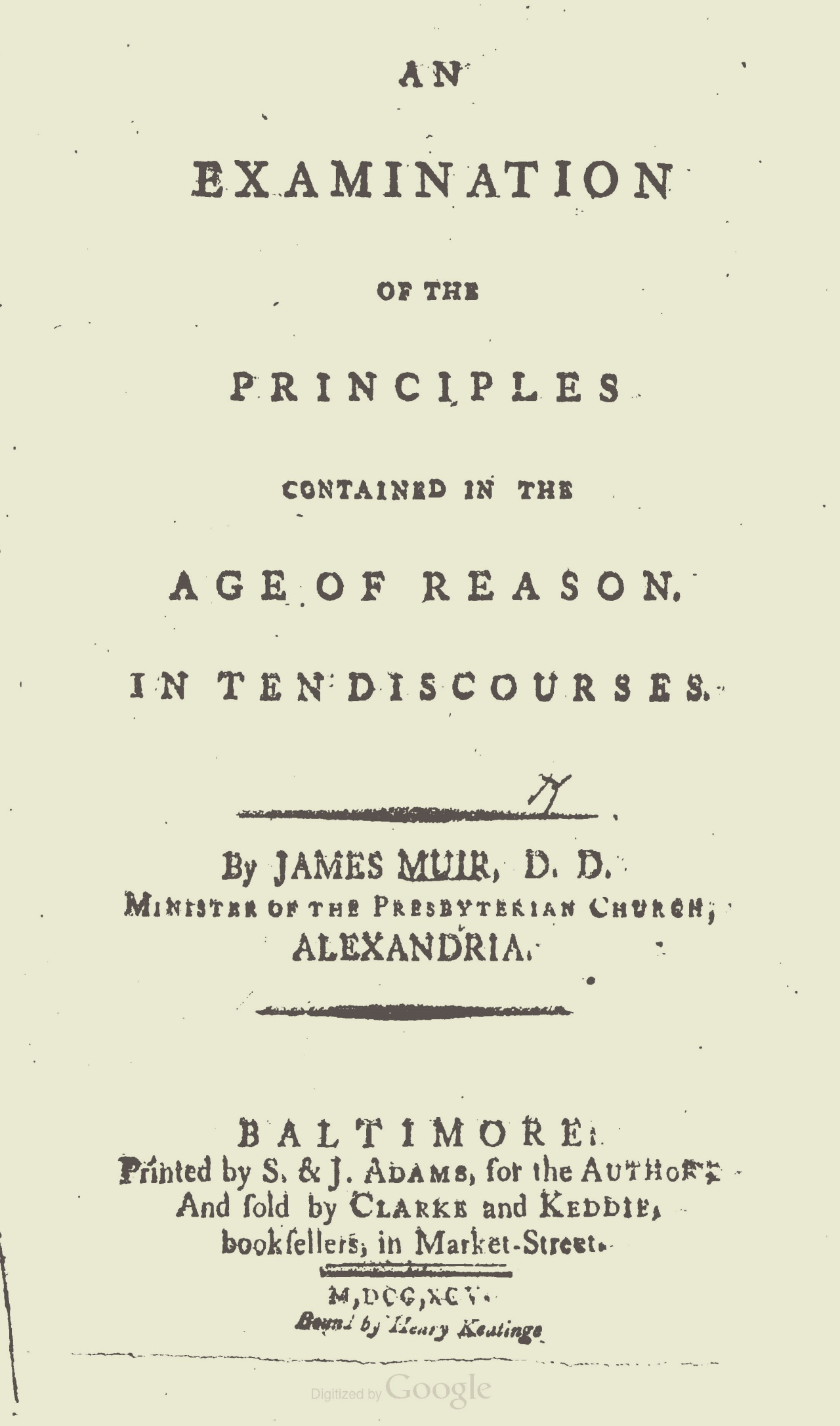 Muir, James, An Examination of the Principles Contained in the Age of Reason Title Page.jpg
