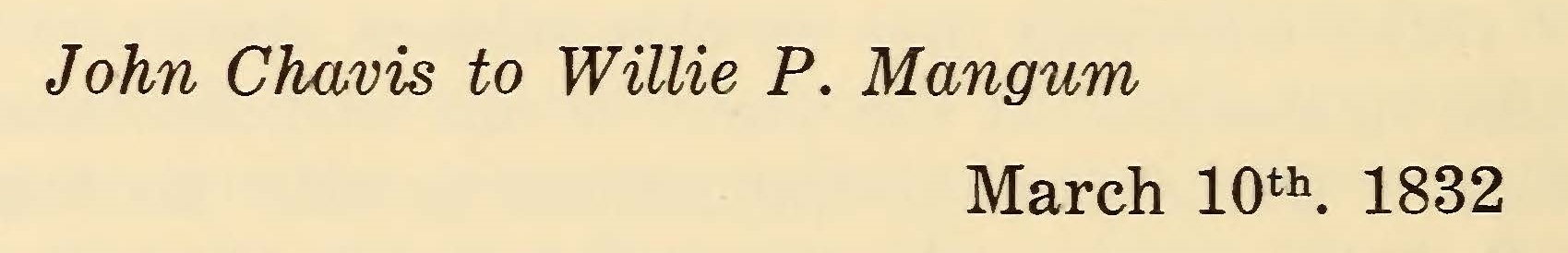 Chavis, John, March 10, 1832 Letter to Willie P. Mangum Title Page.jpg