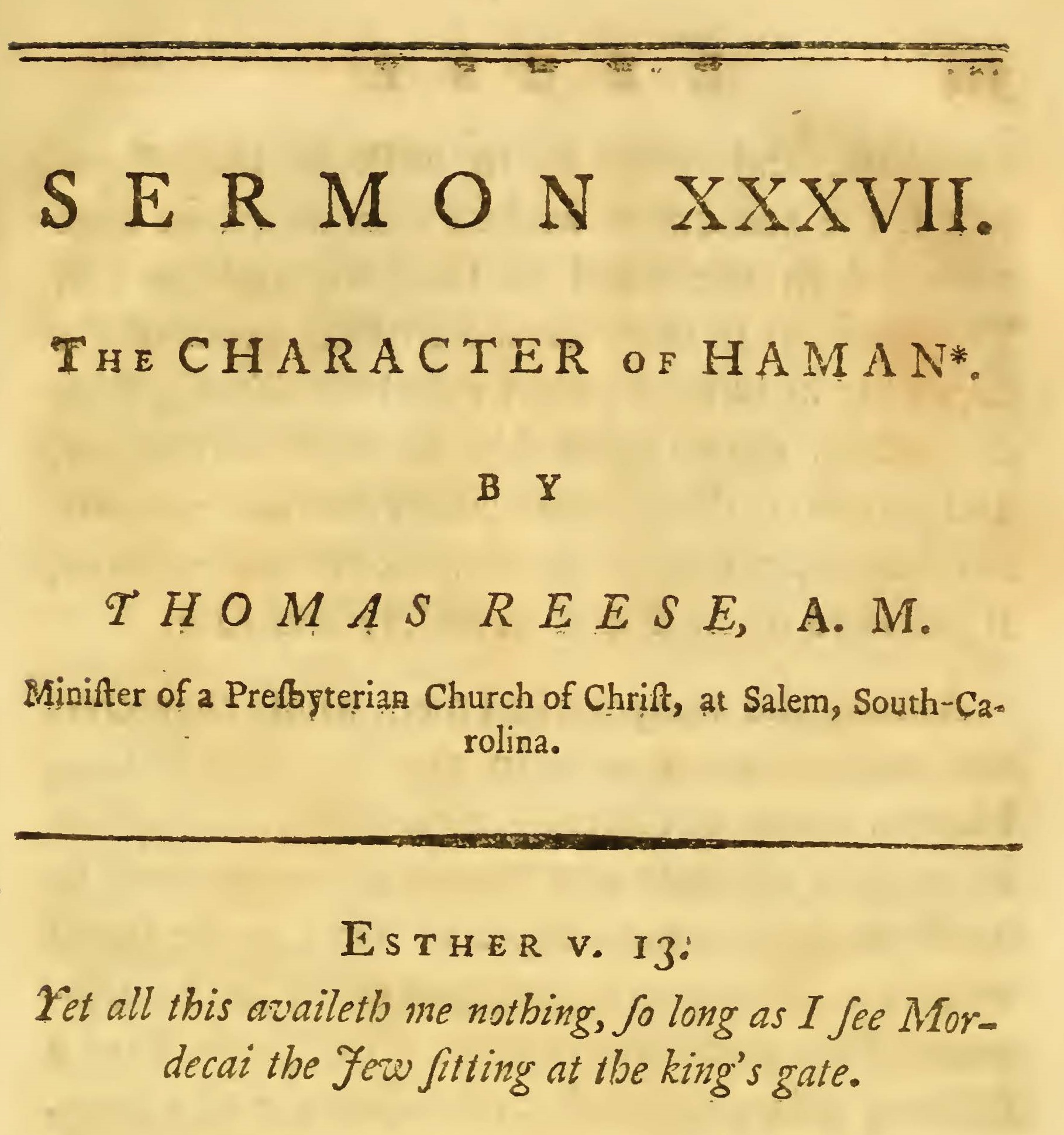 Reese, Thomas, The Character of Haman Title Page.jpg