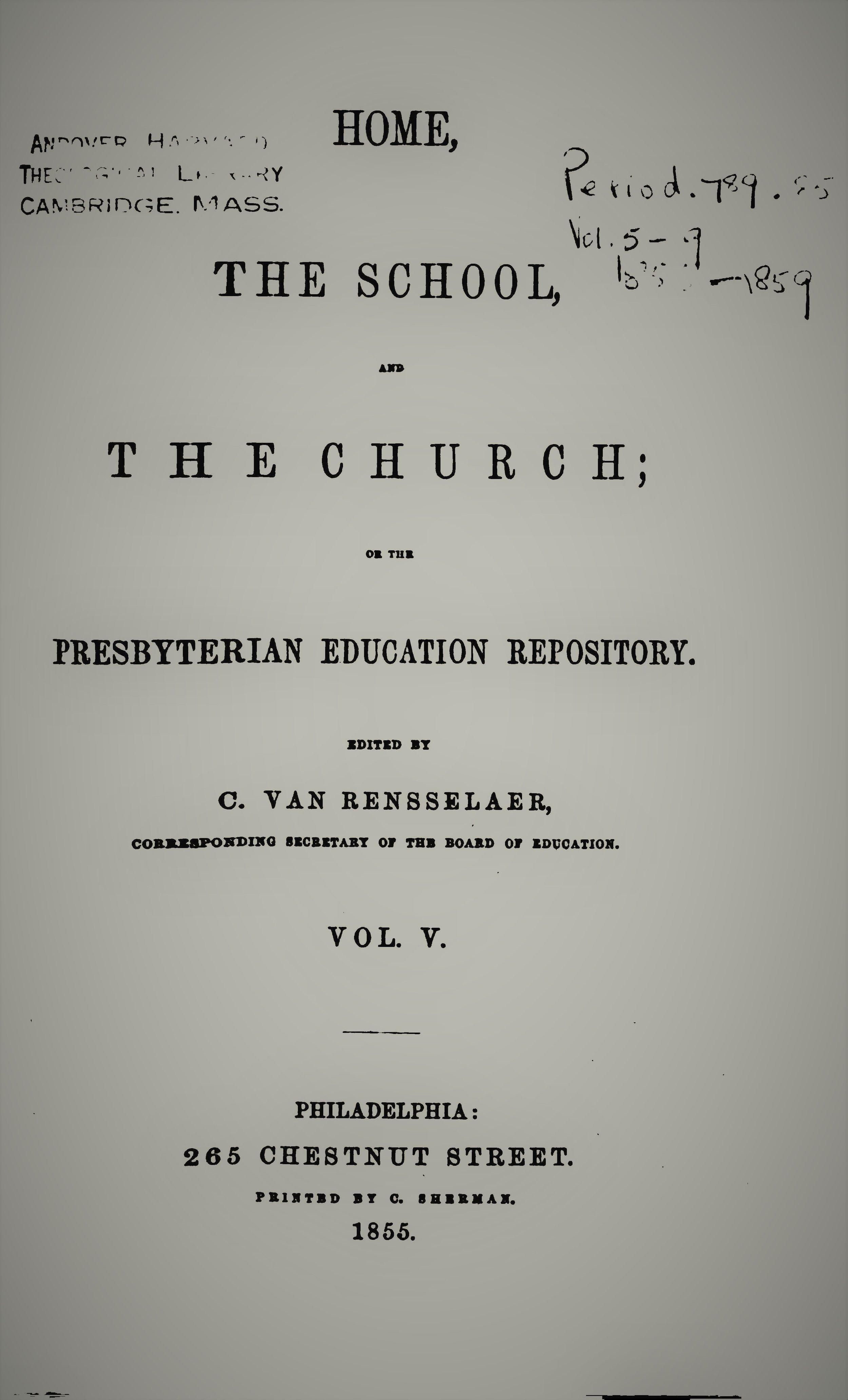 Van Rensselaer, Home School Church Vol 5.jpg