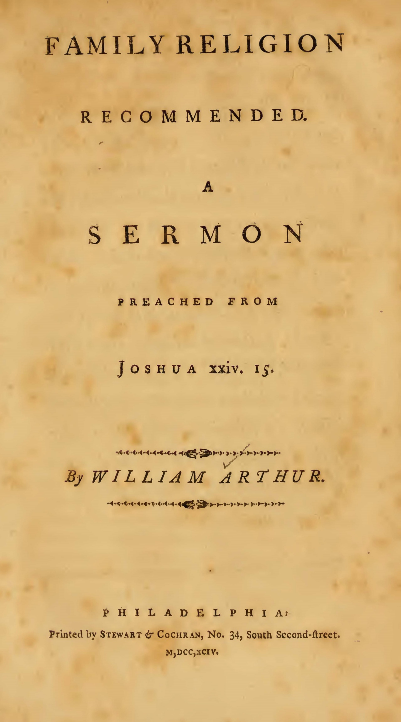 Arthur, William, Family Religion Recommended Title Page.jpg