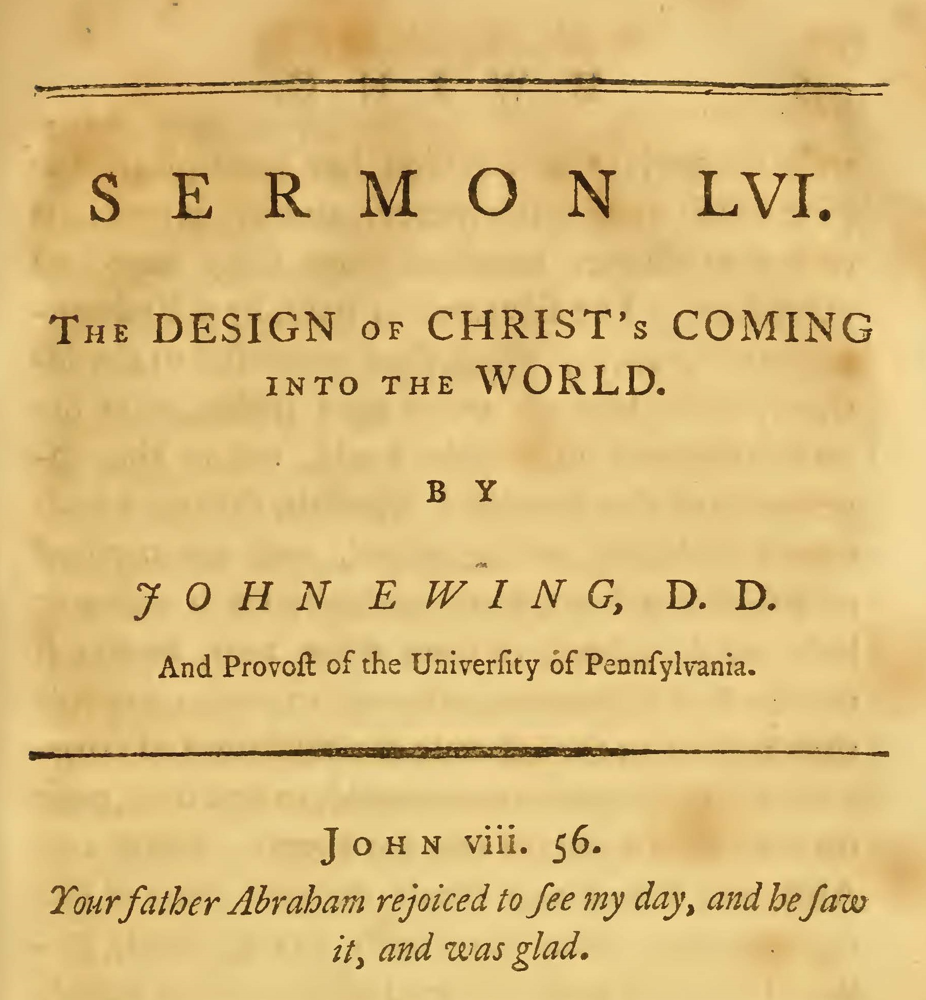 Ewing, John, The Design of Christ's Coming Into the World Title Page.jpg