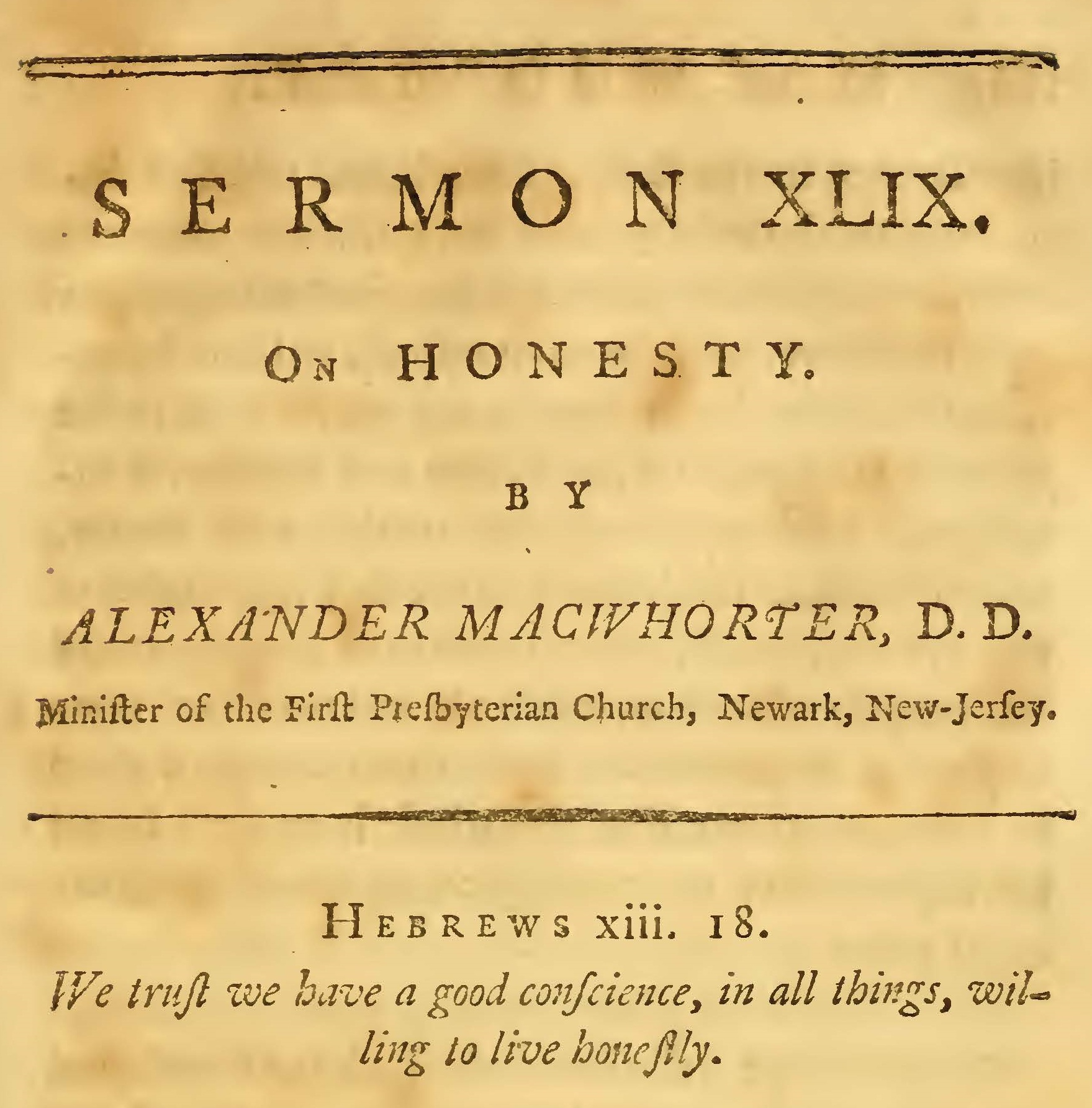 MacWhorter, Alexander, On Honesty Title Page.jpg