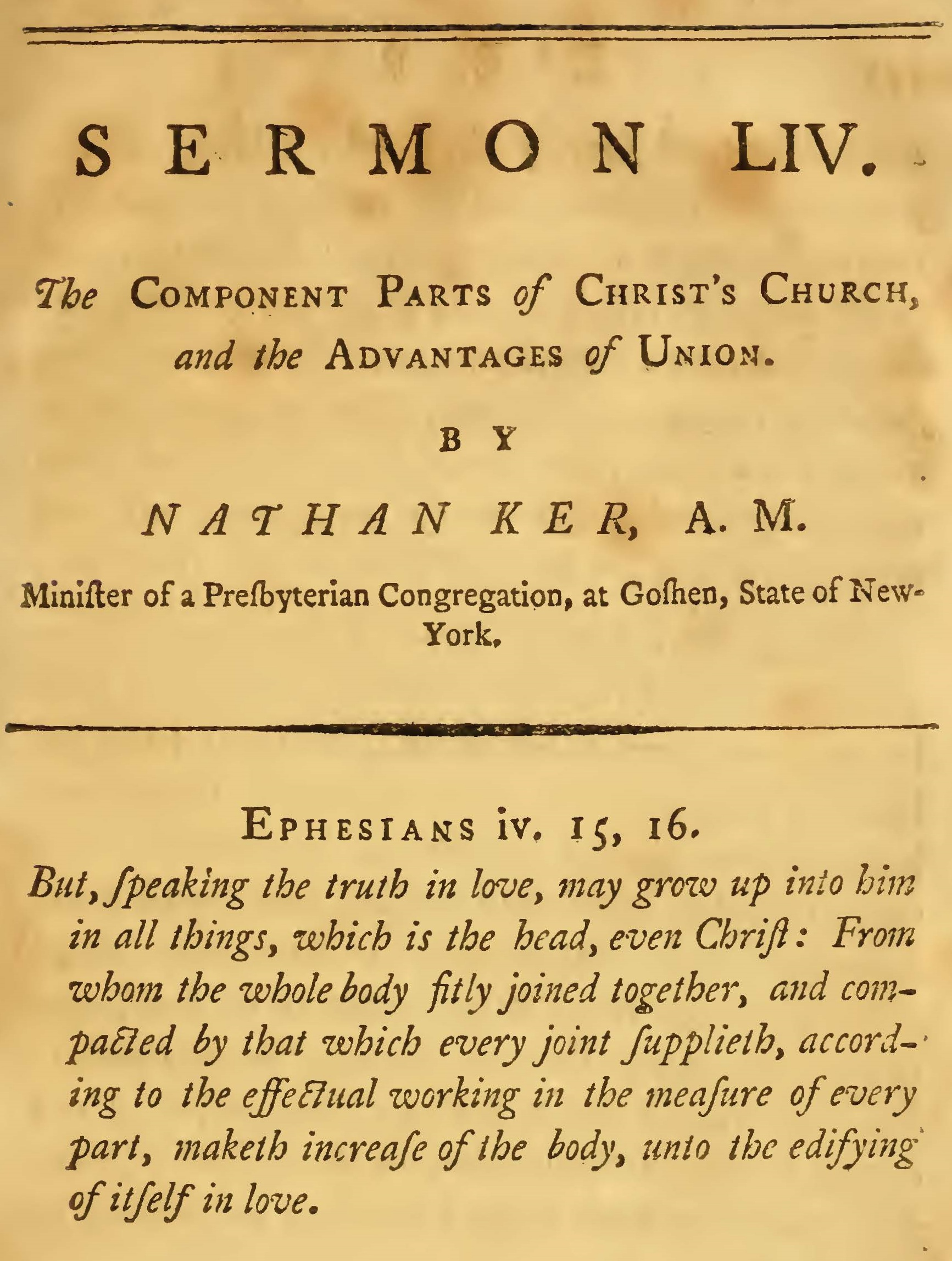 Ker, Nathan, The Component Parts of Christ's Church Title Page.jpg