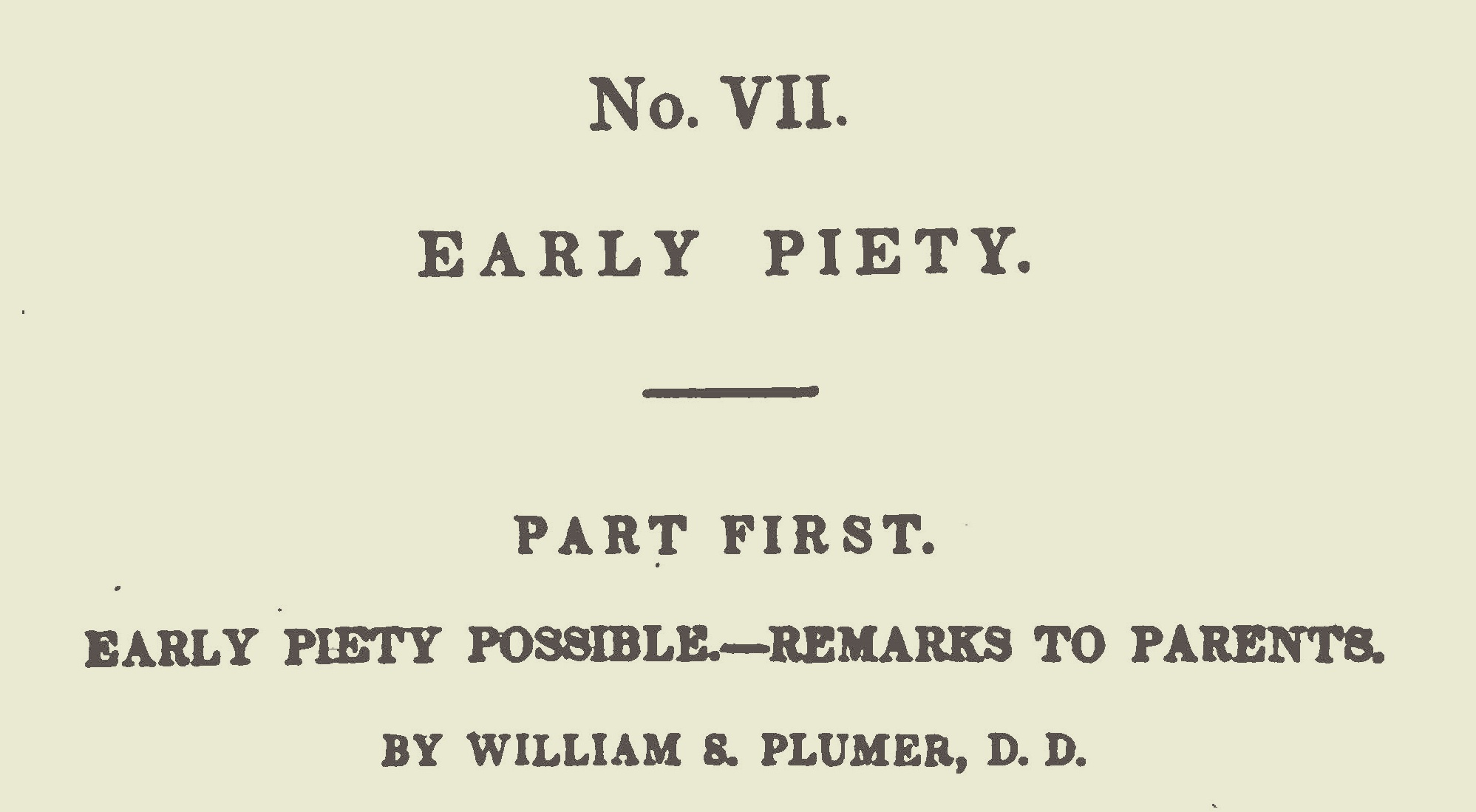 Plumer, William Swan, Early Piety Title Page.jpg
