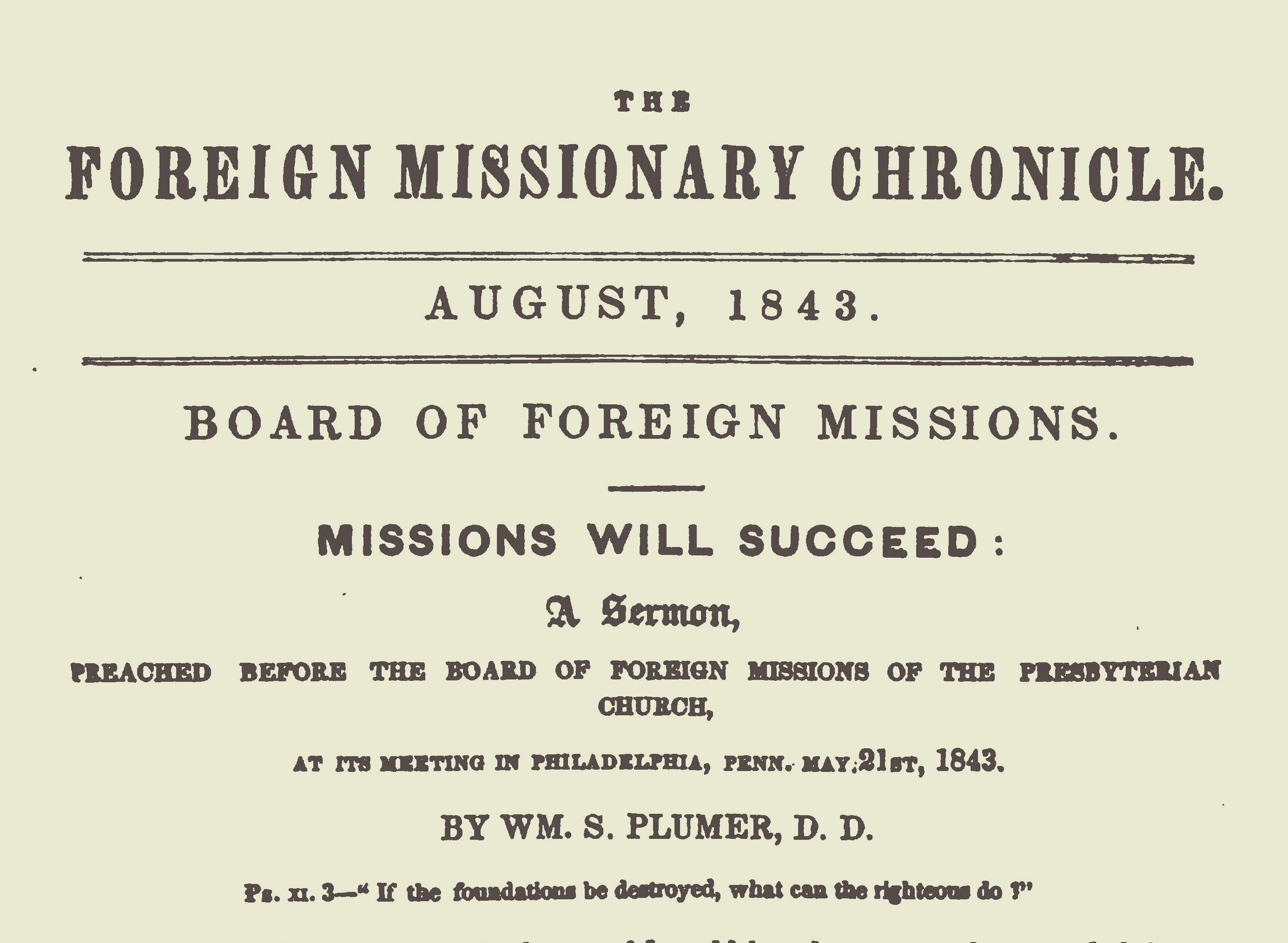 Plumer, William Swan Missions-will-succeed-in-the-missionary-chronicle-225ff Title Page.jpg