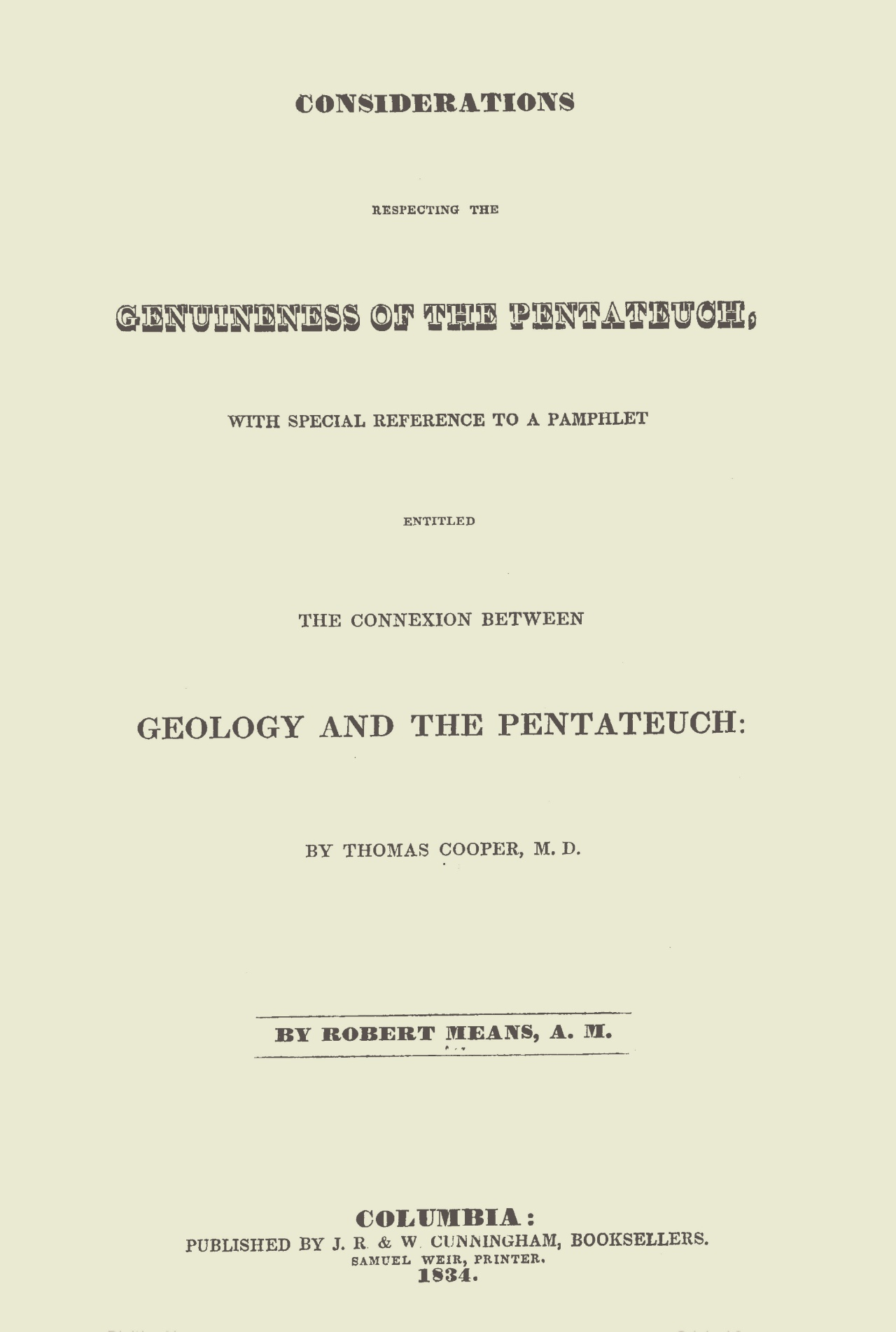 Means, Robert, Considerations Respecting the Genuineness of the Pentateuch Title Page.jpg