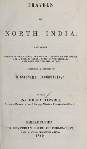 Lowrie, Travels in North India.jpg