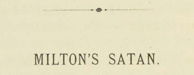 Warfield, Benjamin Breckinridge, Milton's Satan Title Page.jpg